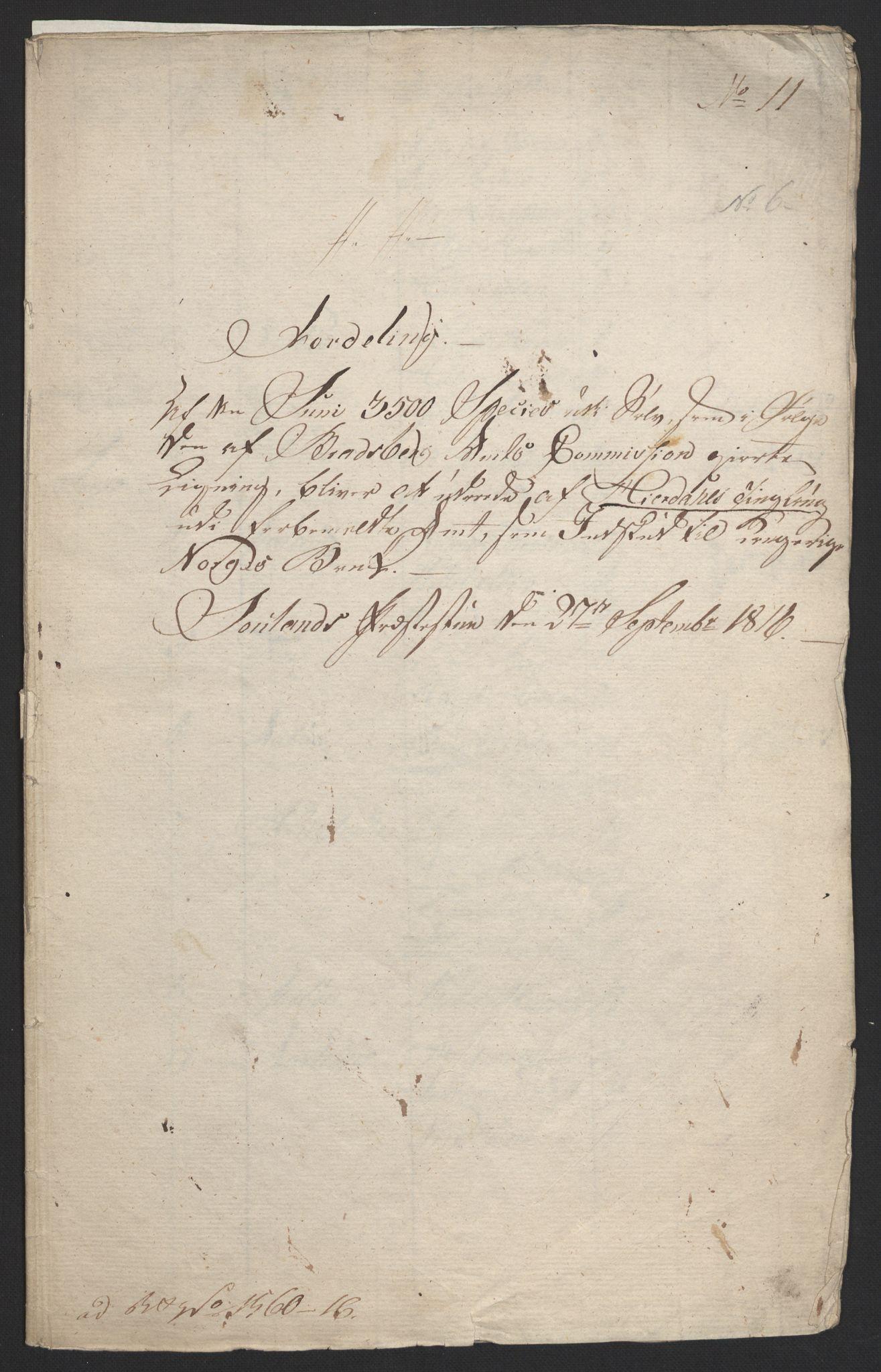 NOBA, Norges Bank/Sølvskatten 1816*, 1816, s. 5