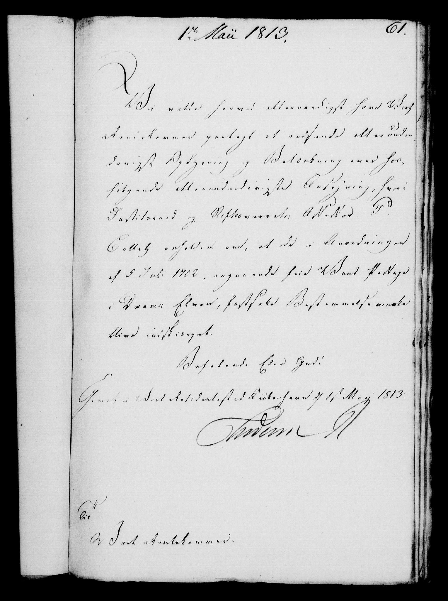 RA, Rentekammeret, Kammerkanselliet, G/Gf/Gfa/L0095: Norsk relasjons- og resolusjonsprotokoll (merket RK 52.95), 1813-1814, s. 254