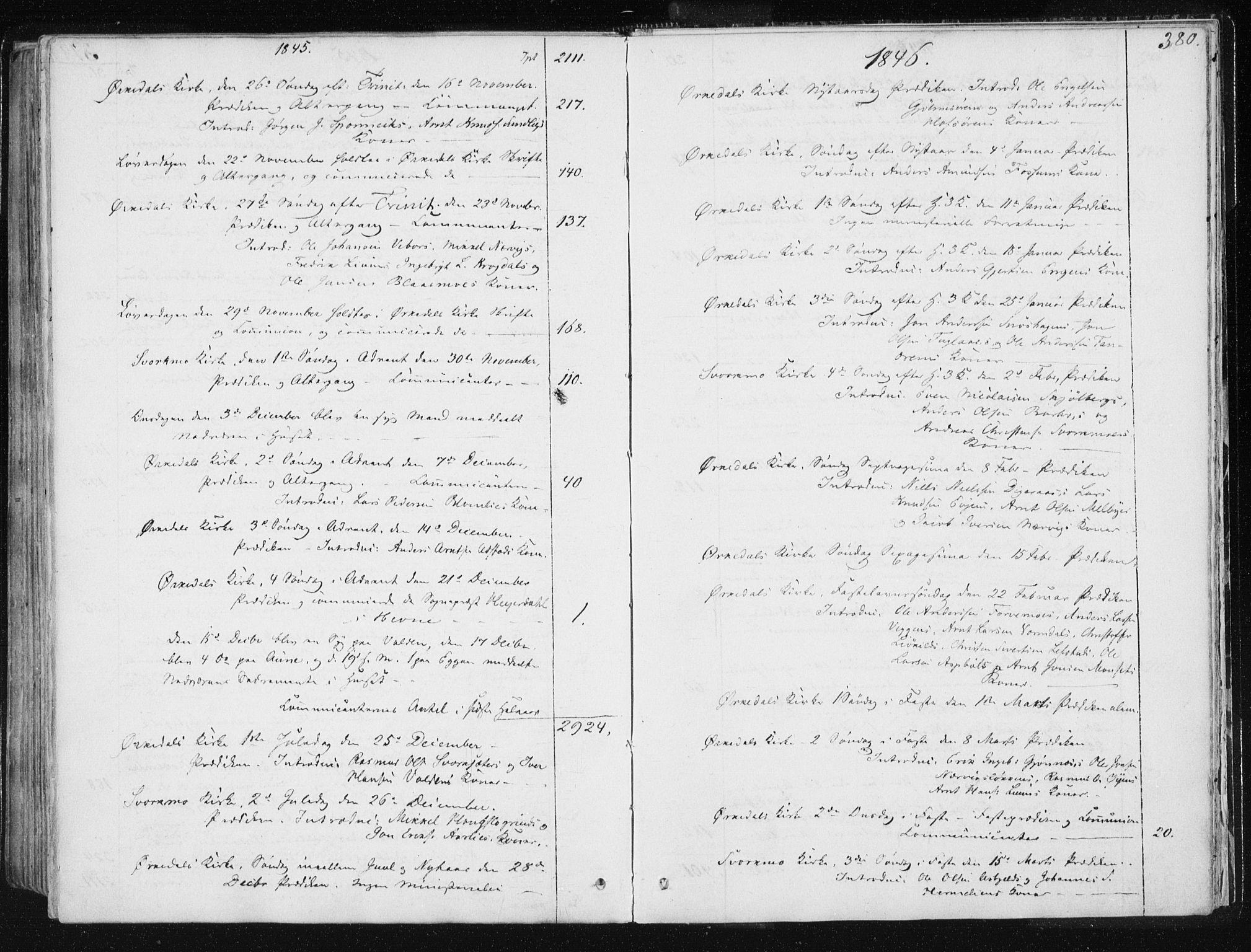 SAT, Ministerialprotokoller, klokkerbøker og fødselsregistre - Sør-Trøndelag, 668/L0805: Ministerialbok nr. 668A05, 1840-1853, s. 380