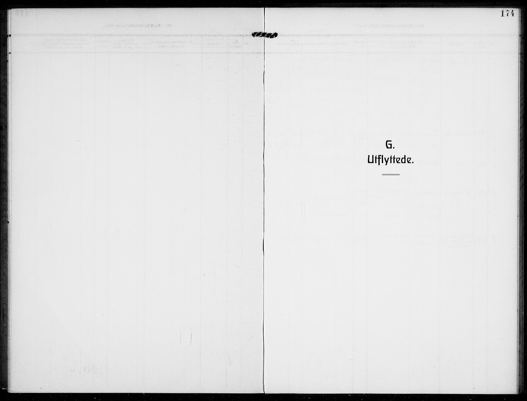 SAKO, Bamble kirkebøker, F/Fc/L0001: Ministerialbok nr. III 1, 1909-1916, s. 174