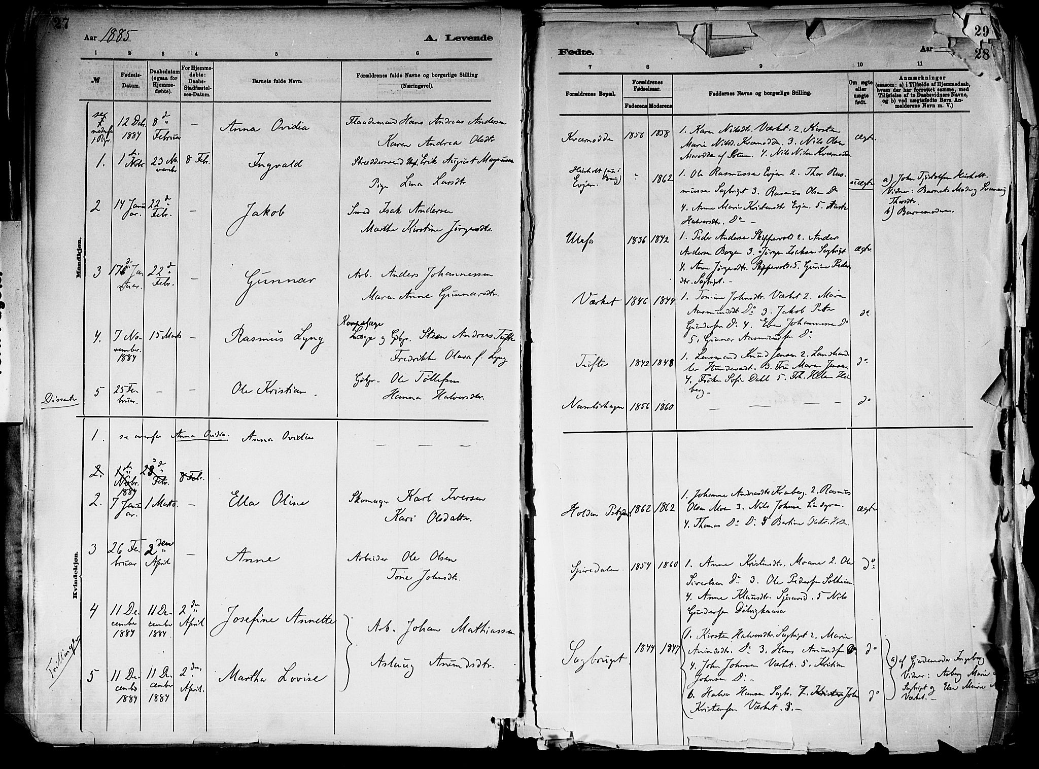 SAKO, Holla kirkebøker, F/Fa/L0008: Ministerialbok nr. 8, 1882-1897, s. 27