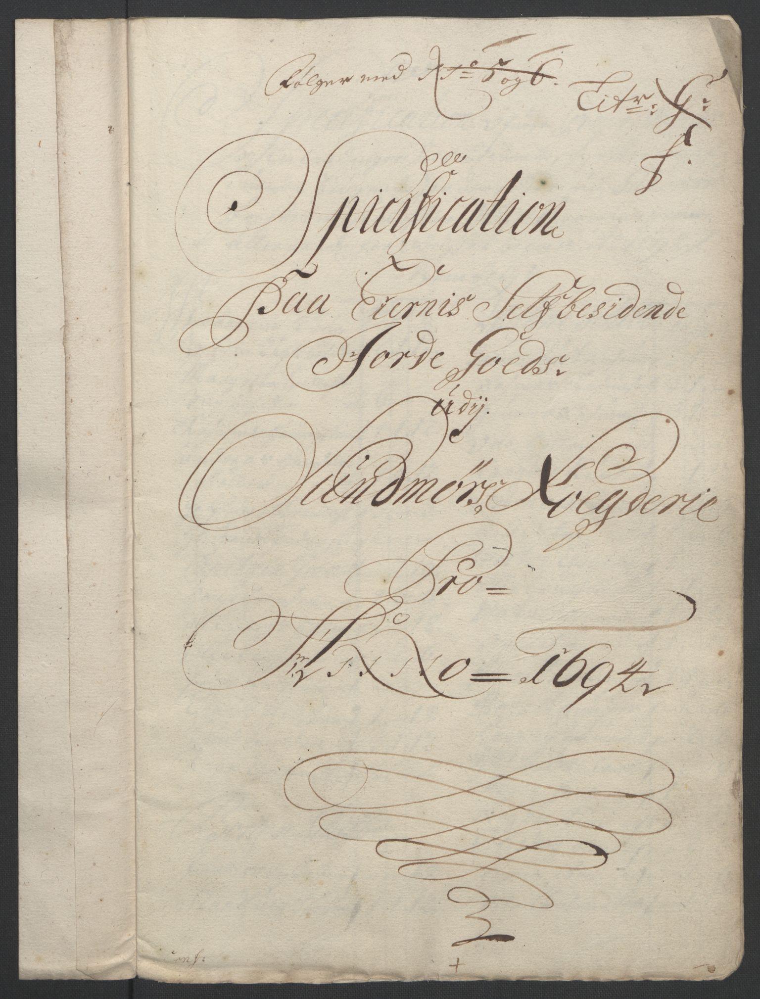 RA, Rentekammeret inntil 1814, Reviderte regnskaper, Fogderegnskap, R54/L3555: Fogderegnskap Sunnmøre, 1694-1695, s. 147