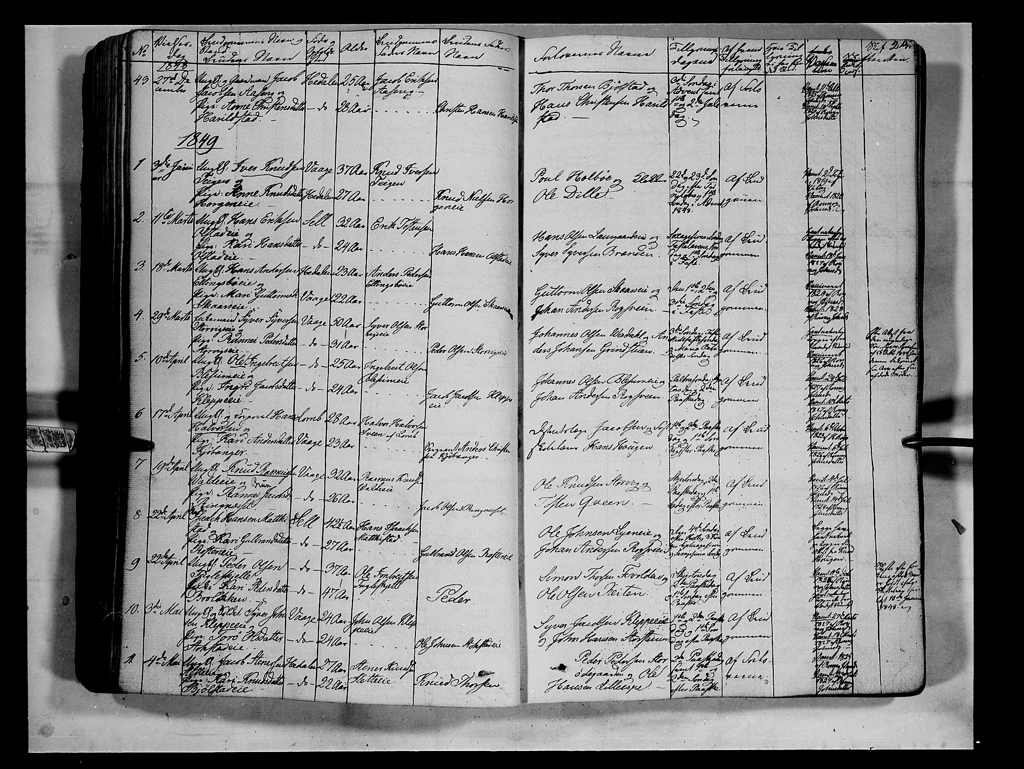 SAH, Vågå prestekontor, Ministerialbok nr. 5 /1, 1842-1856, s. 214
