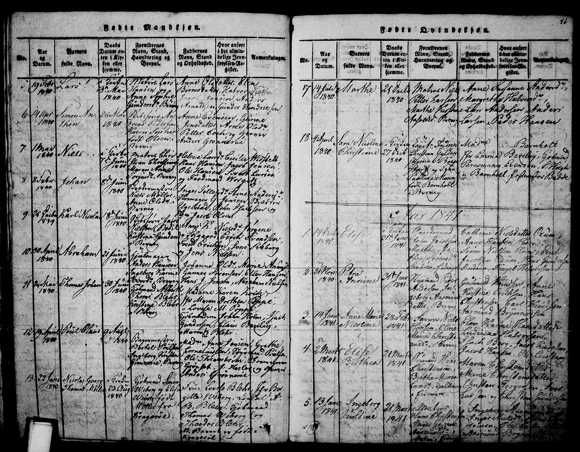 SAKO, Brevik kirkebøker, F/Fa/L0004: Ministerialbok nr. 4, 1814-1846, s. 86