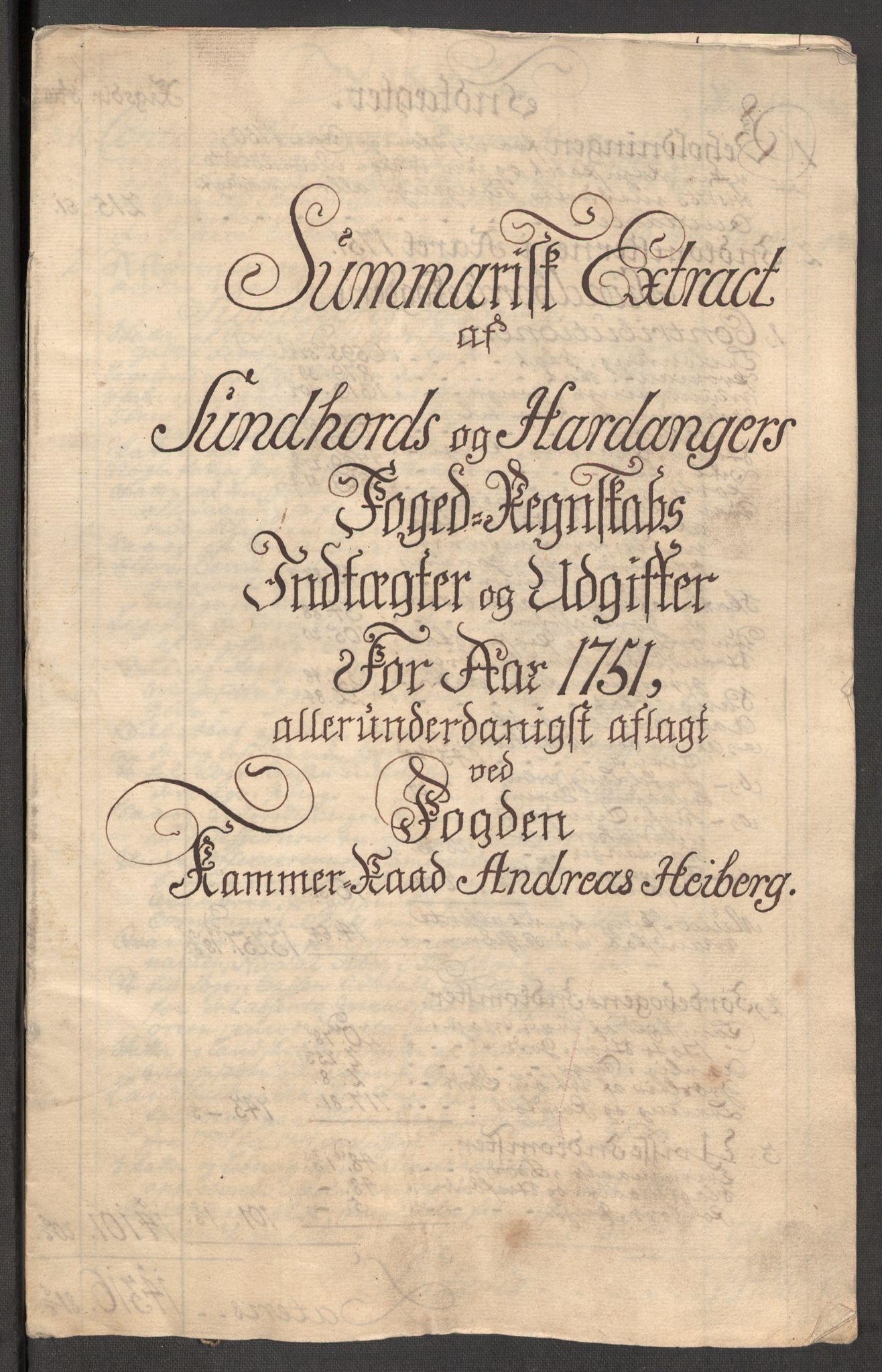 RA, Rentekammeret inntil 1814, Reviderte regnskaper, Fogderegnskap, R48/L3056: Fogderegnskap Sunnhordland og Hardanger, 1751, s. 71