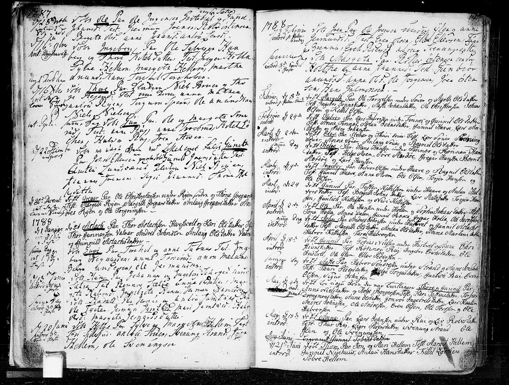 SAKO, Heddal kirkebøker, F/Fa/L0004: Ministerialbok nr. I 4, 1784-1814, s. 14
