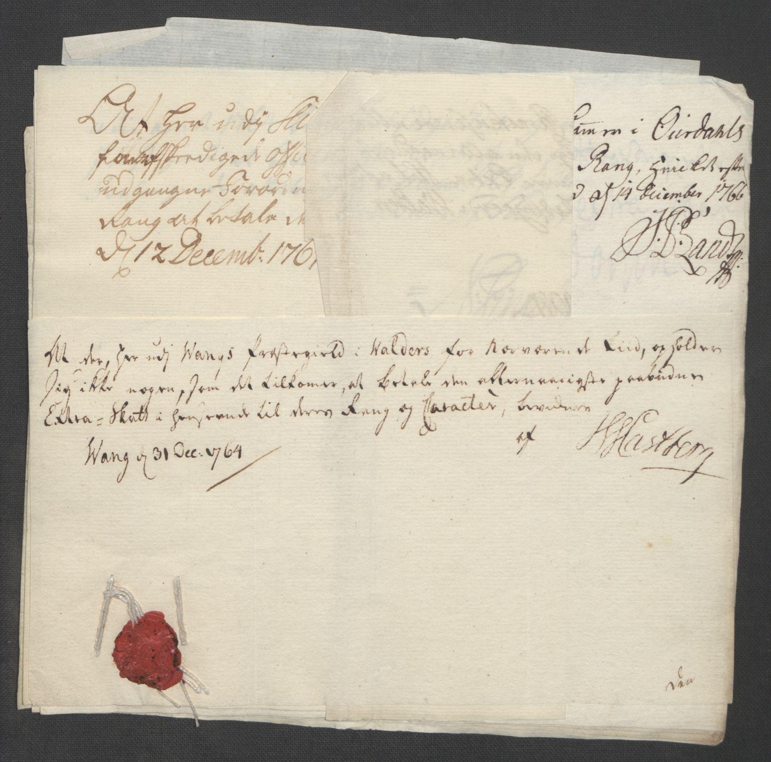 RA, Rentekammeret inntil 1814, Reviderte regnskaper, Fogderegnskap, R19/L1399: Fogderegnskap Toten, Hadeland og Vardal, 1762-1783, s. 65