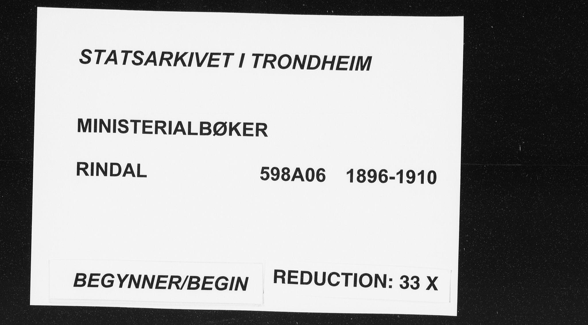 SAT, Ministerialprotokoller, klokkerbøker og fødselsregistre - Møre og Romsdal, 598/L1072: Ministerialbok nr. 598A06, 1896-1910