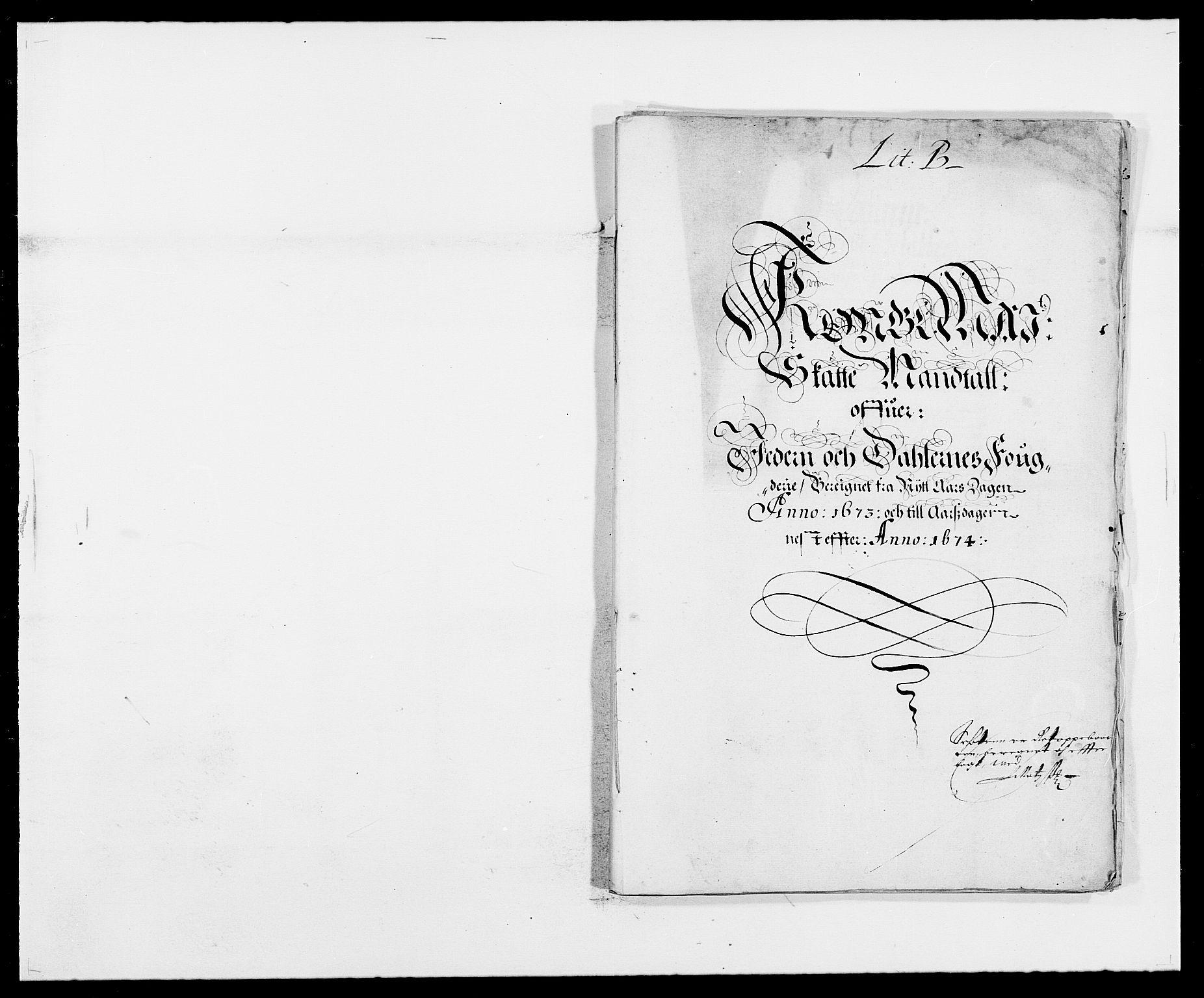 RA, Rentekammeret inntil 1814, Reviderte regnskaper, Fogderegnskap, R46/L2714: Fogderegnskap Jæren og Dalane, 1673-1674, s. 7