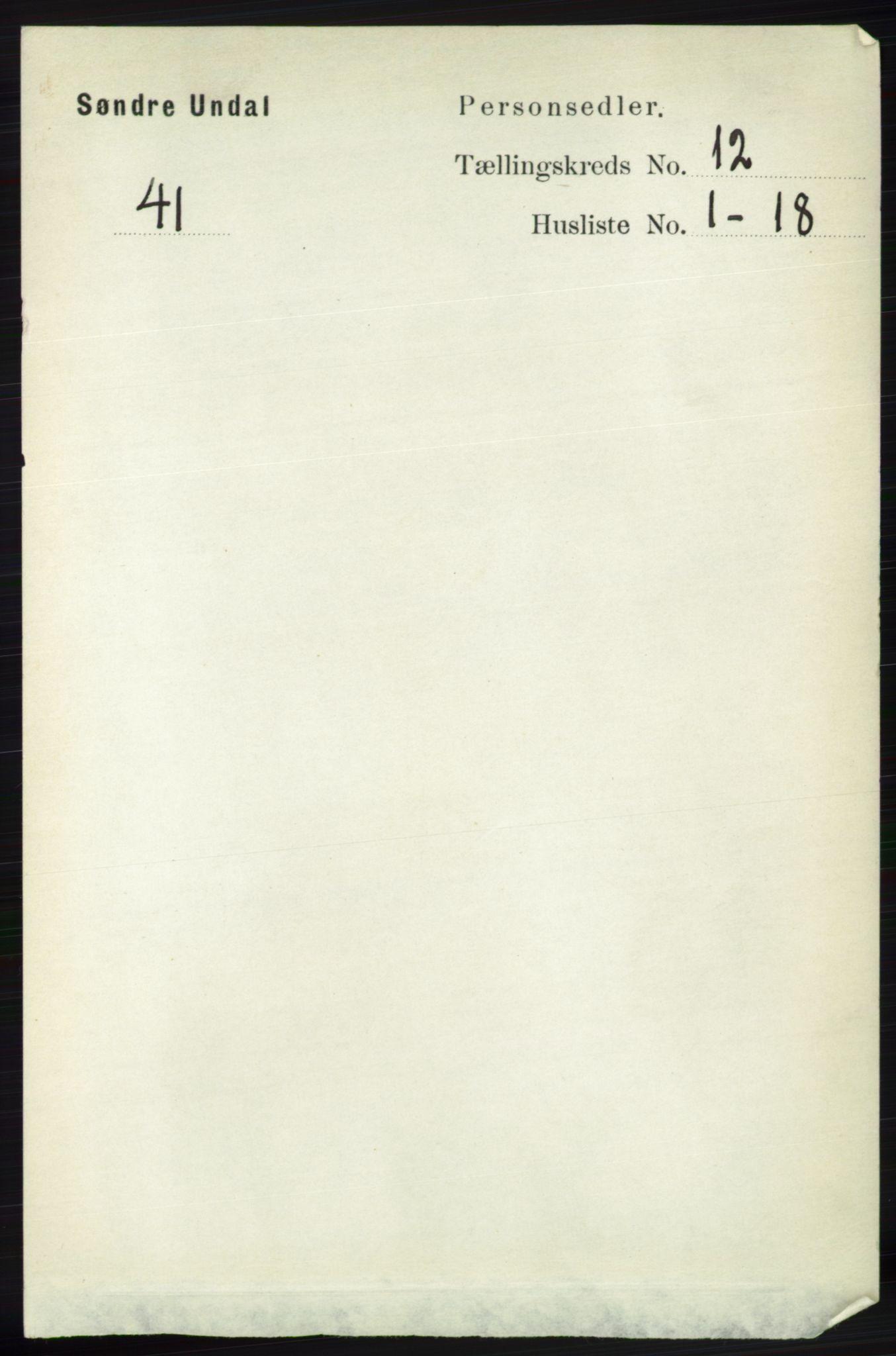RA, Folketelling 1891 for 1029 Sør-Audnedal herred, 1891, s. 5500