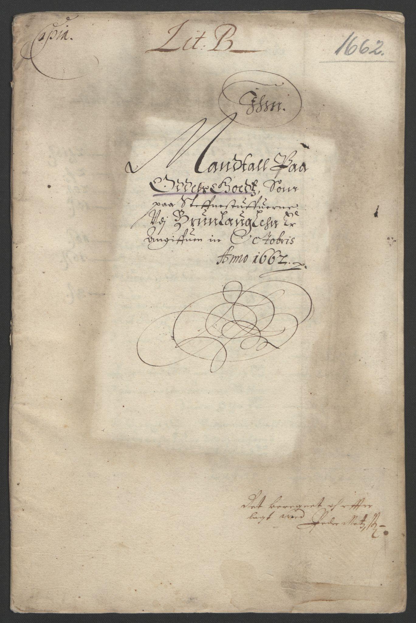 RA, Rentekammeret inntil 1814, Reviderte regnskaper, Fogderegnskap, R33/L1963: Fogderegnskap Larvik grevskap, 1662-1664, s. 48