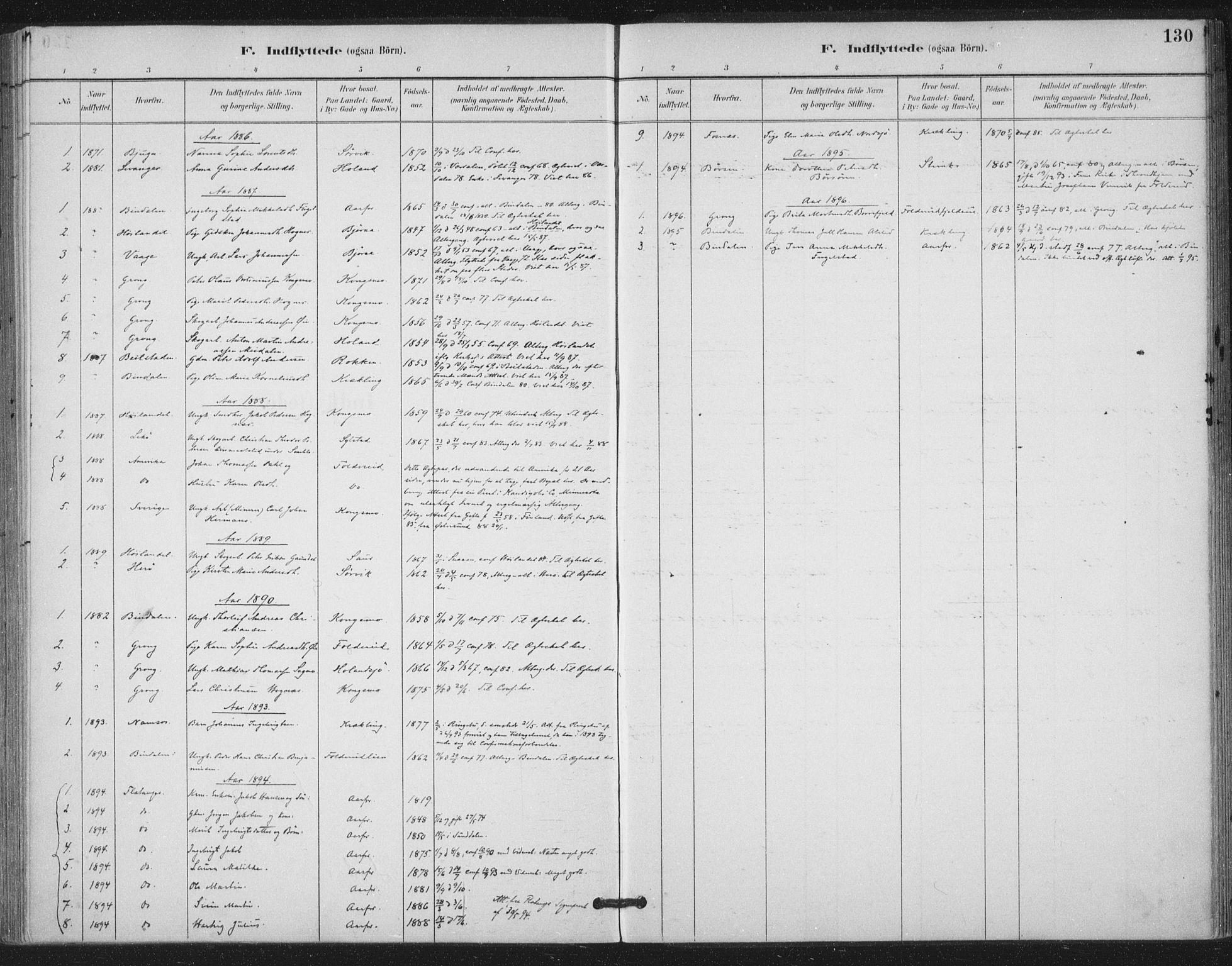 SAT, Ministerialprotokoller, klokkerbøker og fødselsregistre - Nord-Trøndelag, 783/L0660: Ministerialbok nr. 783A02, 1886-1918, s. 130