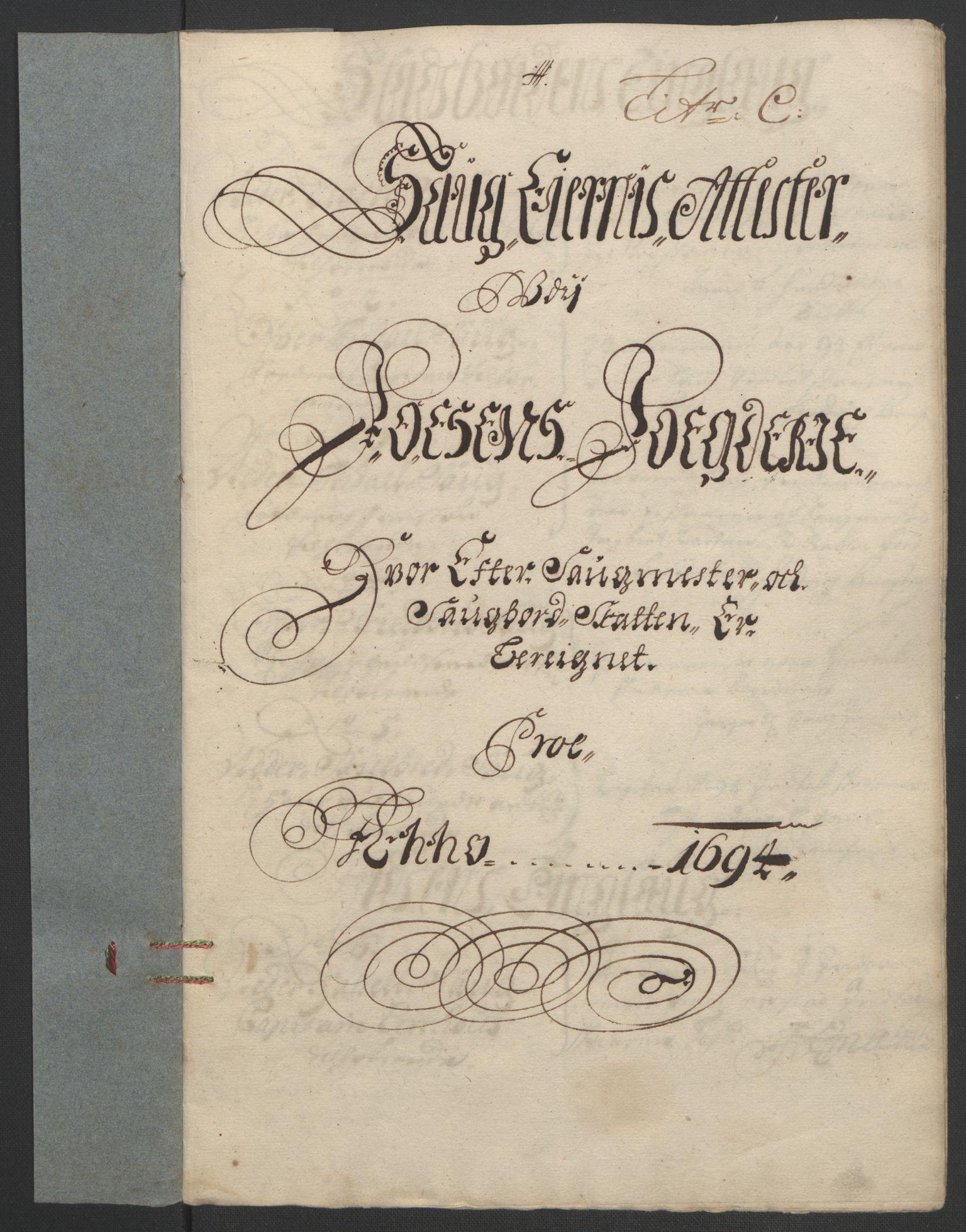 RA, Rentekammeret inntil 1814, Reviderte regnskaper, Fogderegnskap, R57/L3850: Fogderegnskap Fosen, 1694, s. 78