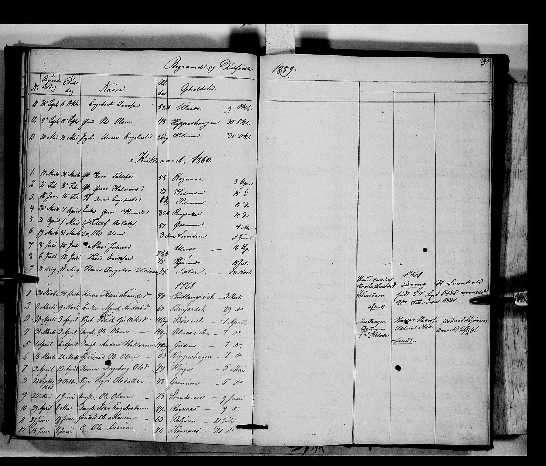 SAH, Nord-Aurdal prestekontor, Ministerialbok nr. 6, 1842-1863, s. 230