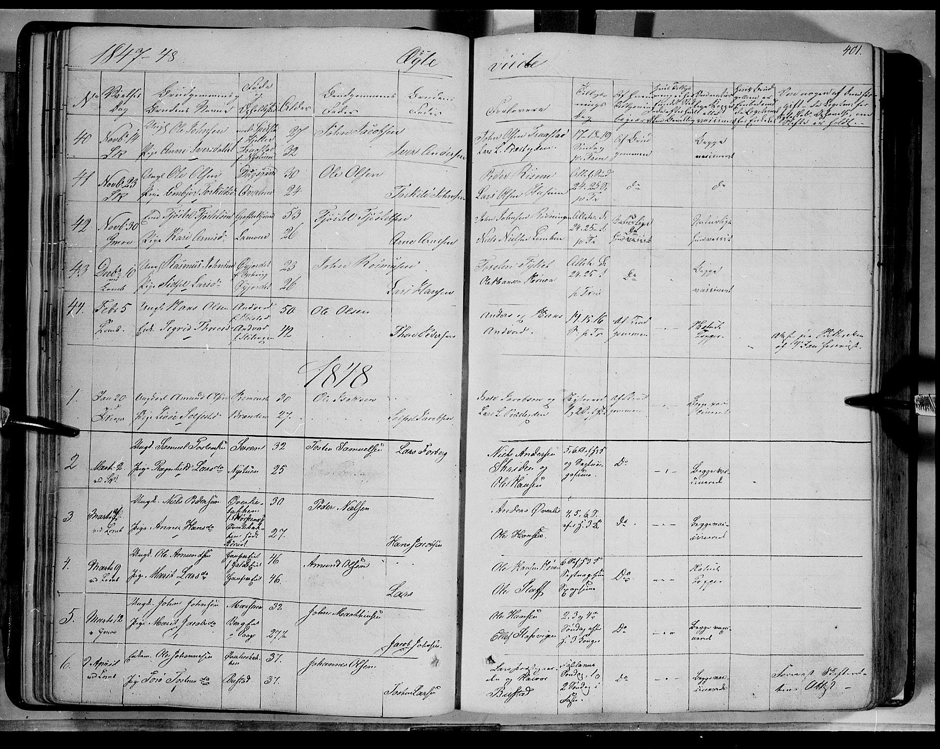 SAH, Lom prestekontor, K/L0006: Ministerialbok nr. 6B, 1837-1863, s. 401