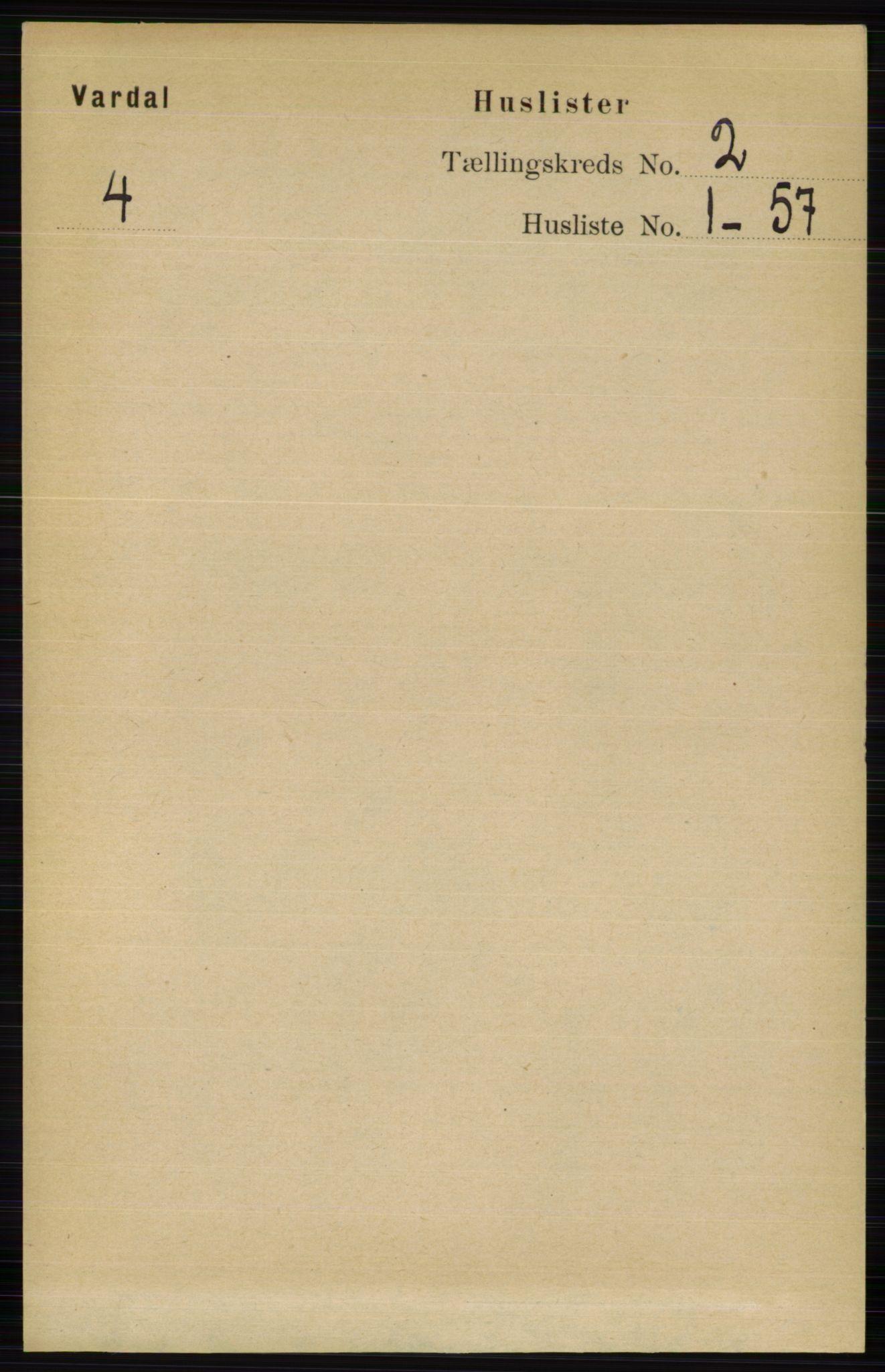 RA, Folketelling 1891 for 0527 Vardal herred, 1891, s. 464