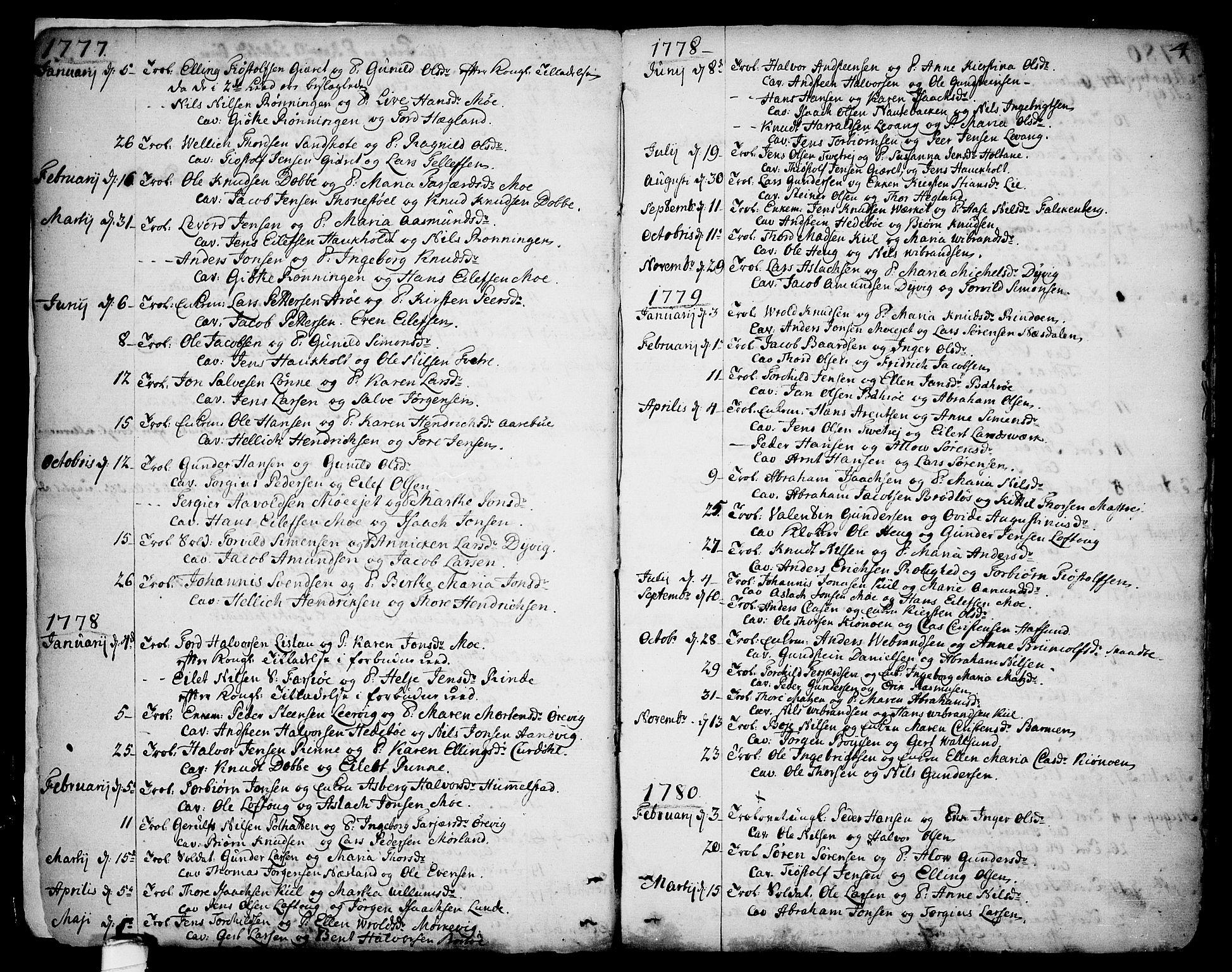 SAKO, Sannidal kirkebøker, F/Fa/L0002: Ministerialbok nr. 2, 1767-1802, s. 4