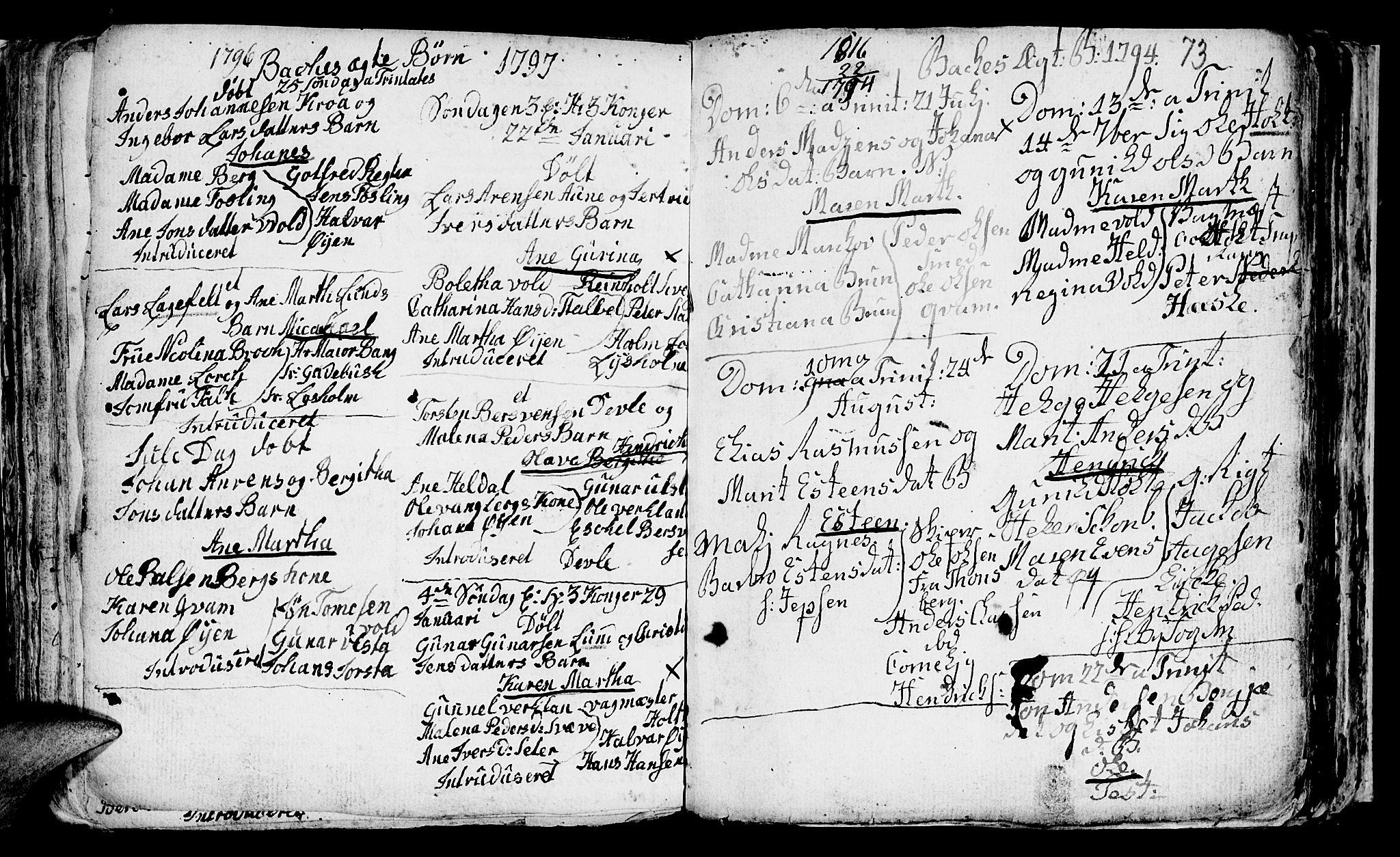 SAT, Ministerialprotokoller, klokkerbøker og fødselsregistre - Sør-Trøndelag, 604/L0218: Klokkerbok nr. 604C01, 1754-1819, s. 73