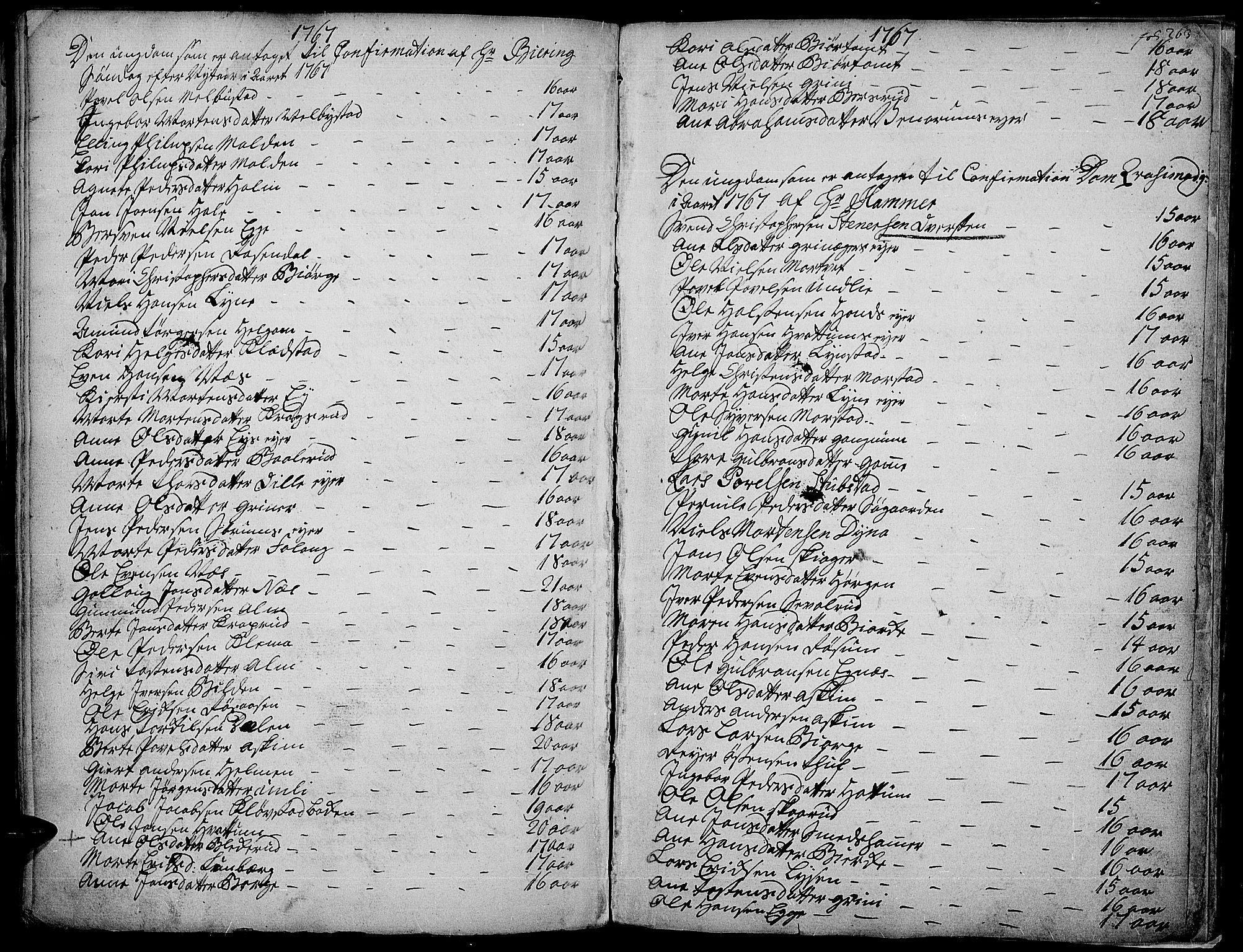 SAH, Gran prestekontor, Ministerialbok nr. 4, 1759-1775, s. 263