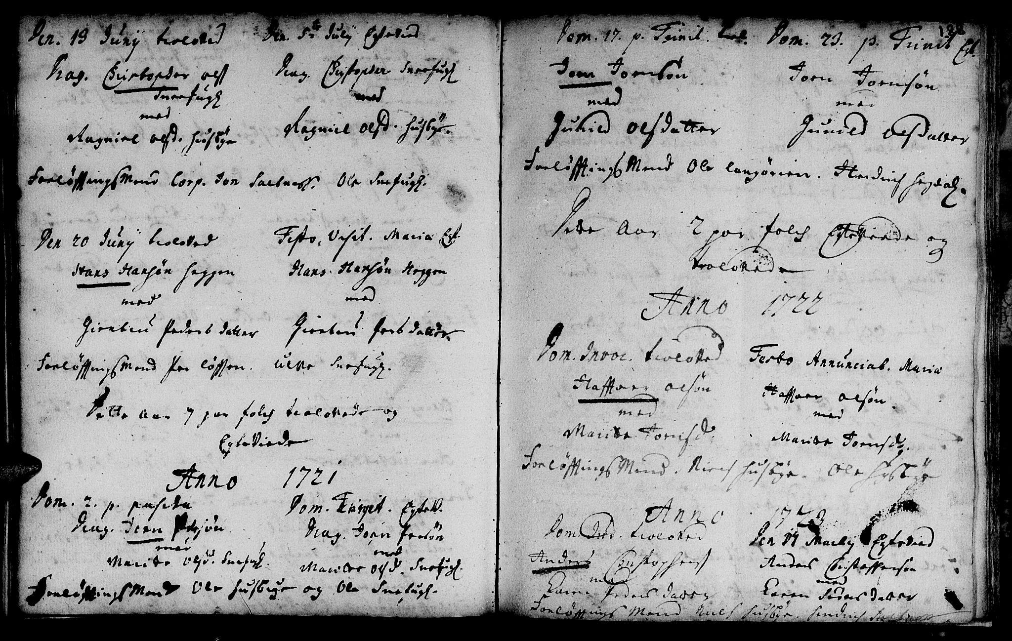 SAT, Ministerialprotokoller, klokkerbøker og fødselsregistre - Sør-Trøndelag, 666/L0783: Ministerialbok nr. 666A01, 1702-1753, s. 188