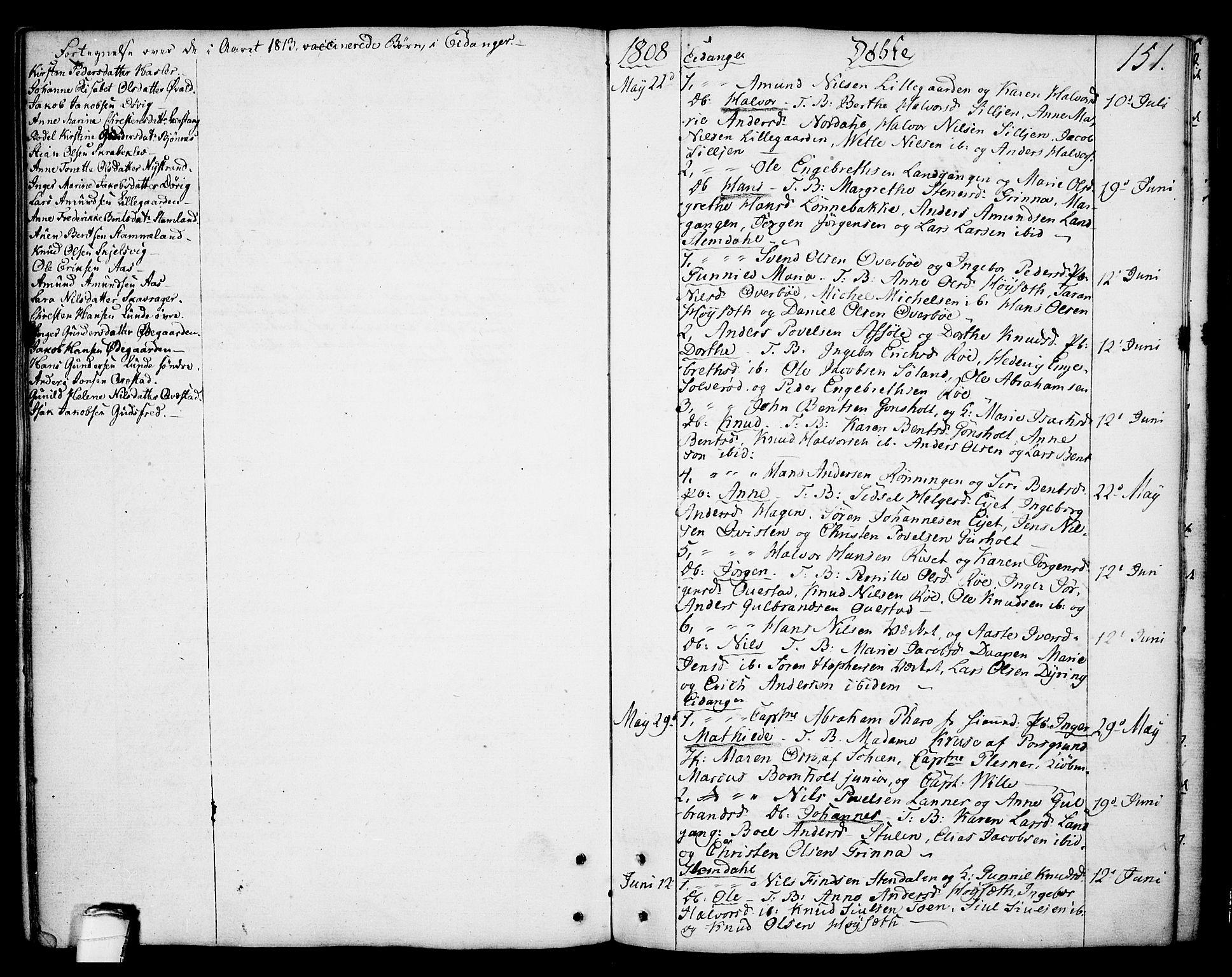 SAKO, Eidanger kirkebøker, F/Fa/L0006: Ministerialbok nr. 6, 1764-1814, s. 151