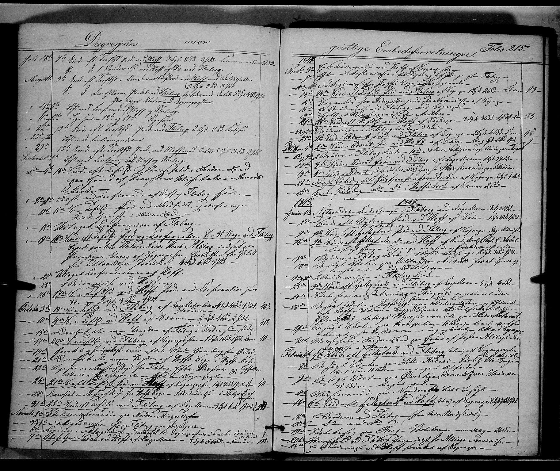 SAH, Land prestekontor, Ministerialbok nr. 9, 1847-1859, s. 215