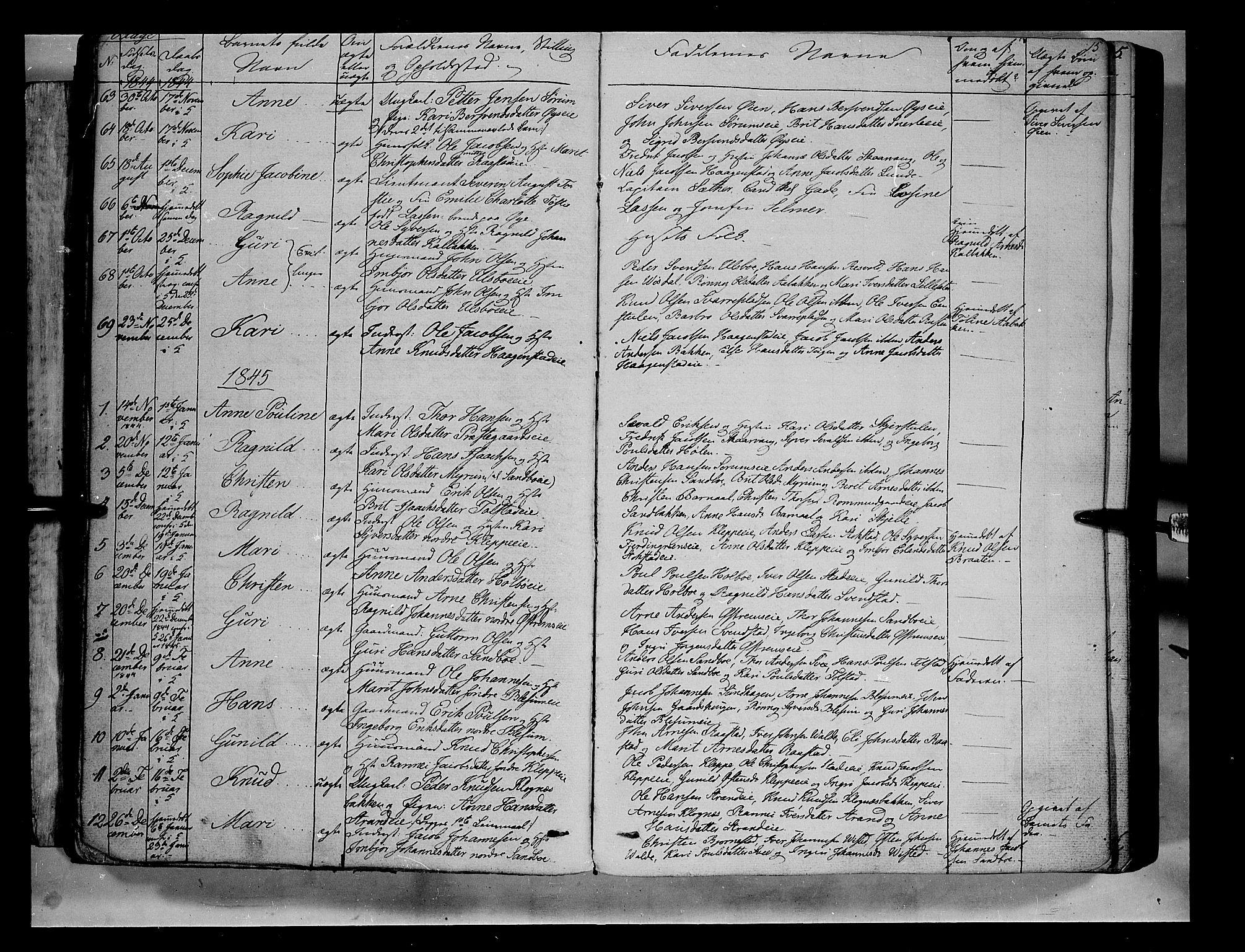 SAH, Vågå prestekontor, Ministerialbok nr. 5 /1, 1842-1856, s. 15