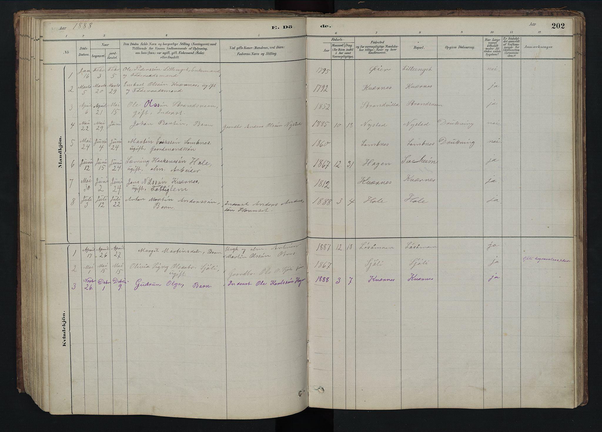 SAH, Rendalen prestekontor, H/Ha/Hab/L0009: Klokkerbok nr. 9, 1879-1902, s. 202