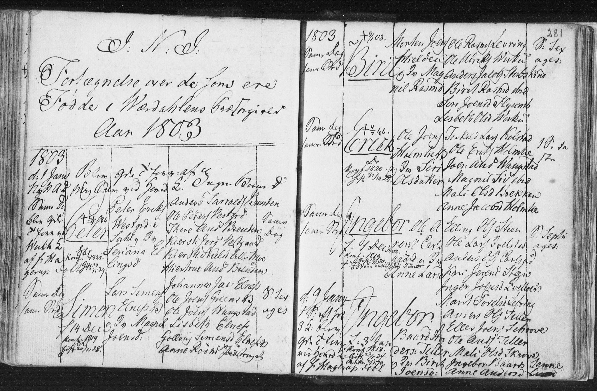 SAT, Ministerialprotokoller, klokkerbøker og fødselsregistre - Nord-Trøndelag, 723/L0232: Ministerialbok nr. 723A03, 1781-1804, s. 281