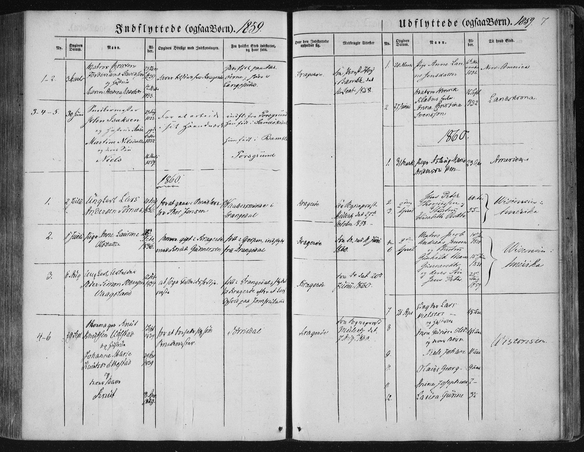 SAKO, Kragerø kirkebøker, F/Fa/L0006: Ministerialbok nr. 6, 1847-1861, s. 7