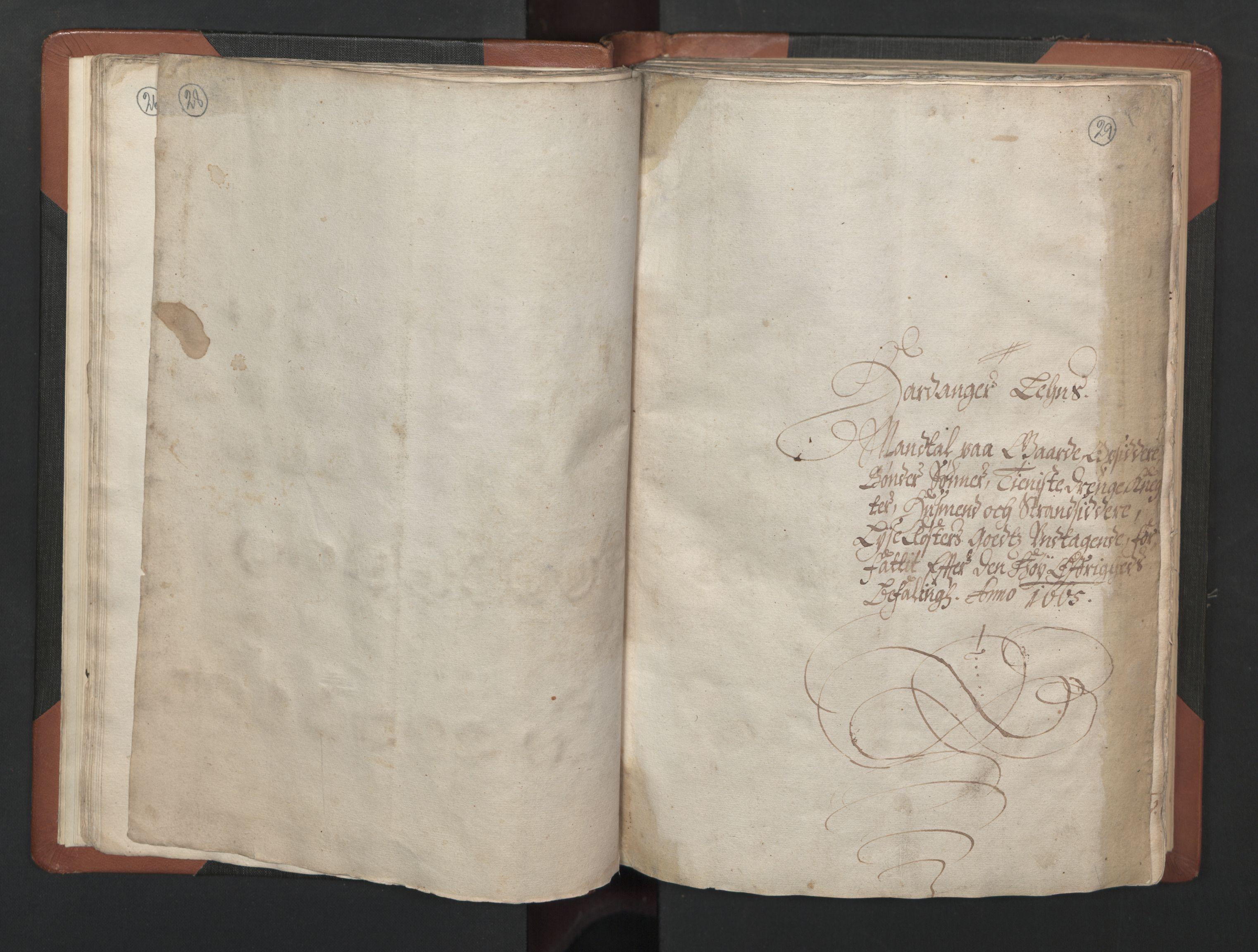 RA, Fogdenes og sorenskrivernes manntall 1664-1666, nr. 14: Hardanger len, Ytre Sogn fogderi og Indre Sogn fogderi, 1664-1665, s. 28-29
