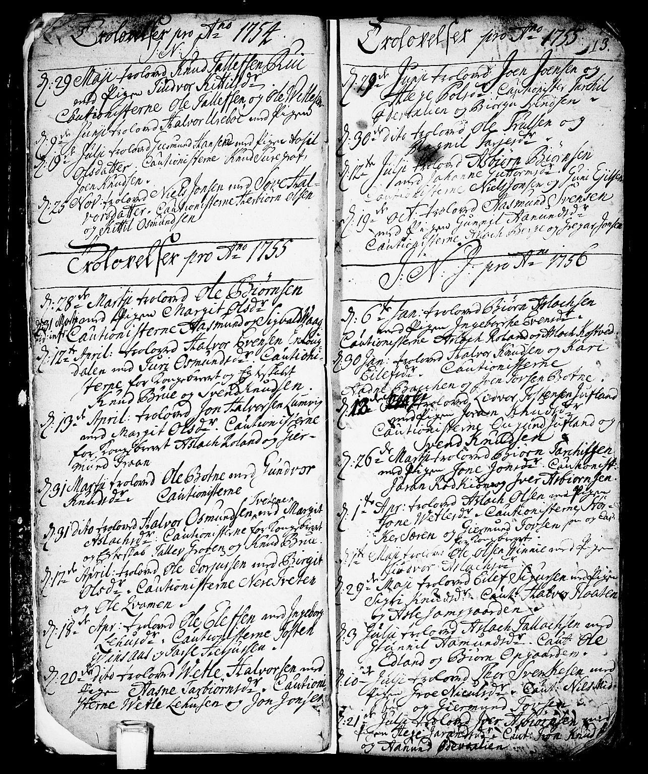 SAKO, Vinje kirkebøker, F/Fa/L0001: Ministerialbok nr. I 1, 1717-1766, s. 13