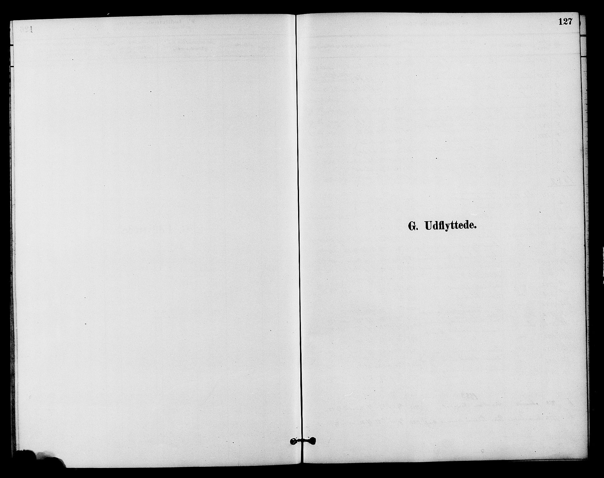 SAH, Vestre Slidre prestekontor, Klokkerbok nr. 4, 1881-1912, s. 127