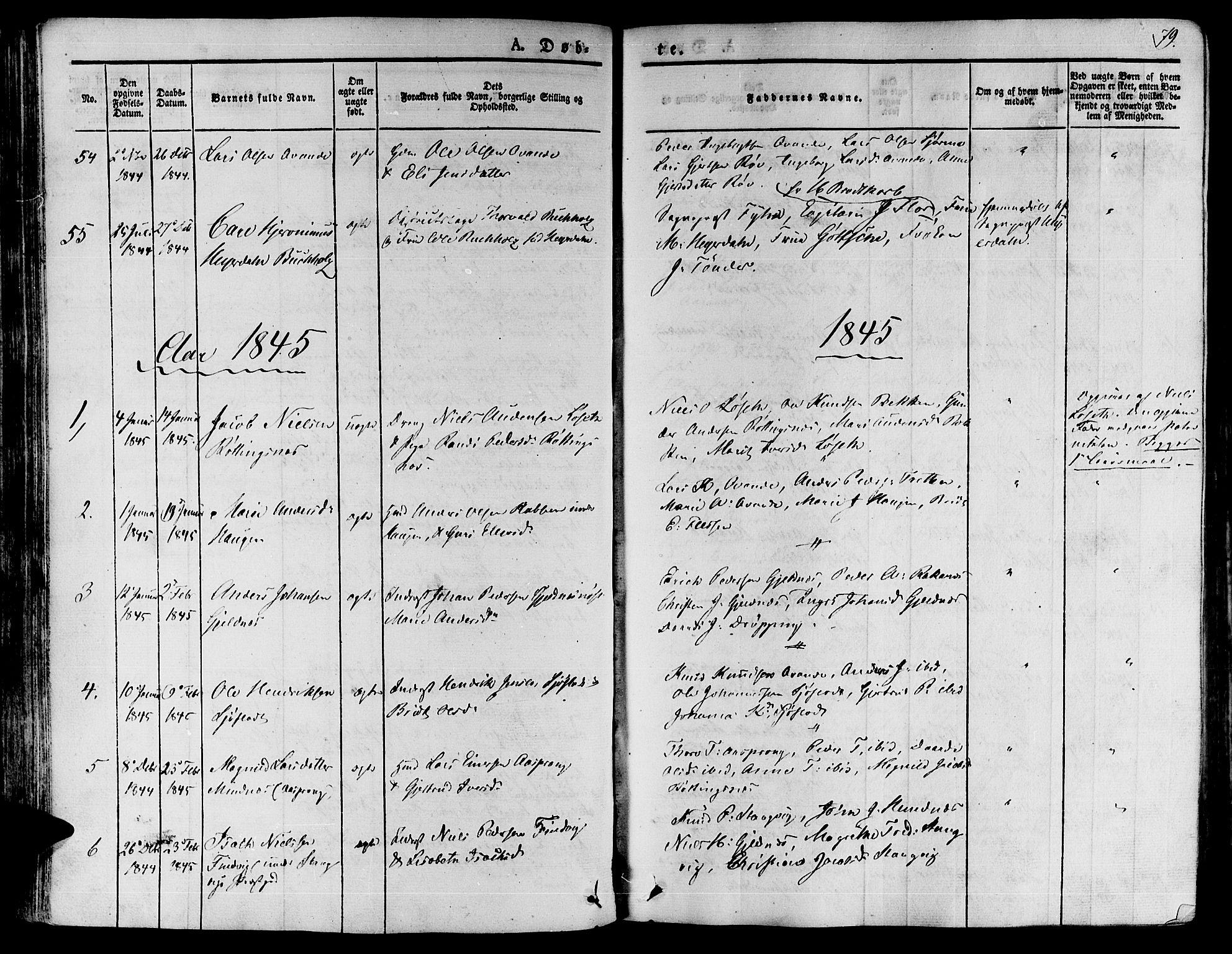 SAT, Ministerialprotokoller, klokkerbøker og fødselsregistre - Møre og Romsdal, 592/L1024: Ministerialbok nr. 592A03 /1, 1831-1849, s. 79