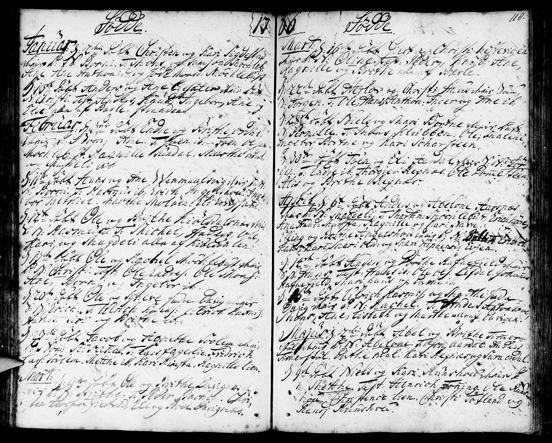 SAB, Davik Sokneprestembete, Ministerialbok nr. A 2, 1742-1816, s. 118