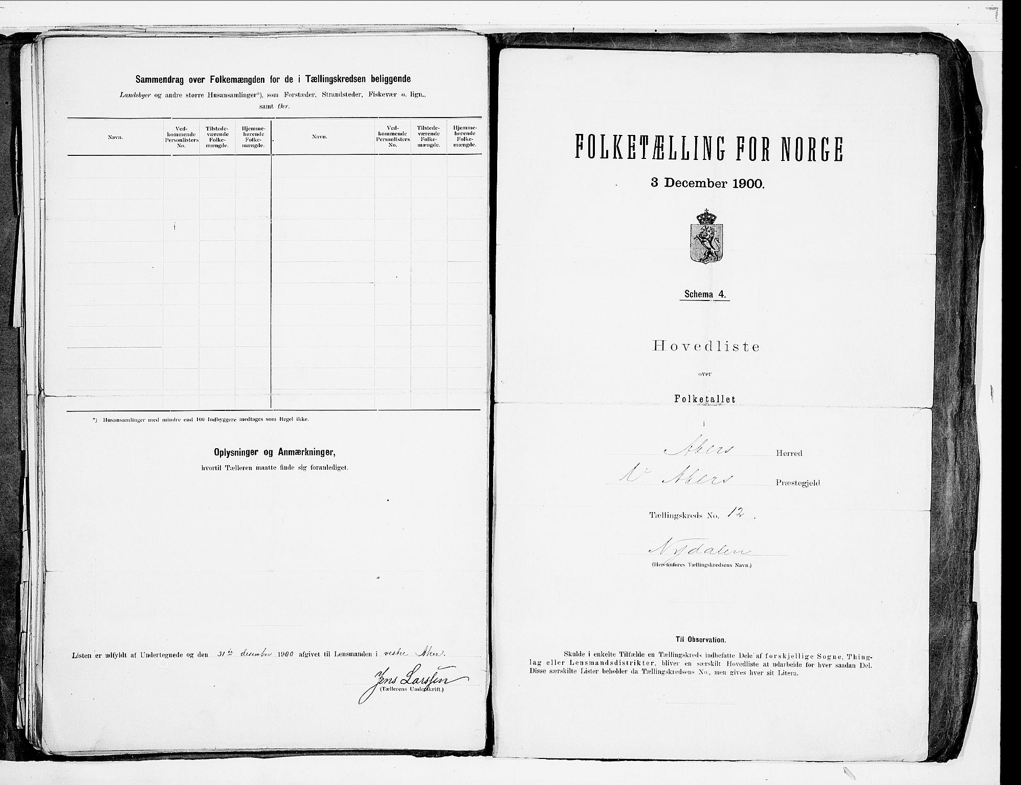 SAO, Folketelling 1900 for 0218 Aker herred, 1900, s. 68