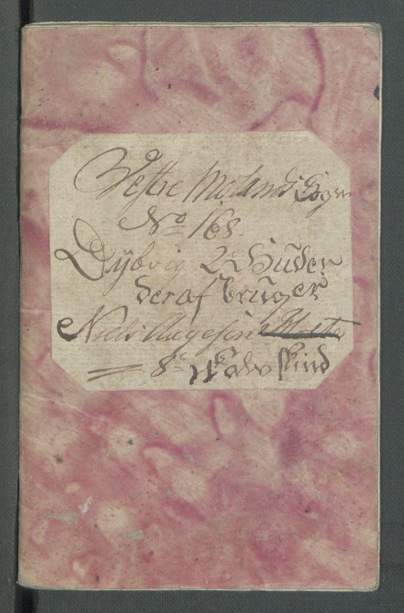RA, Rentekammeret inntil 1814, Realistisk ordnet avdeling, Od/L0001: Oppløp, 1786-1769, s. 354