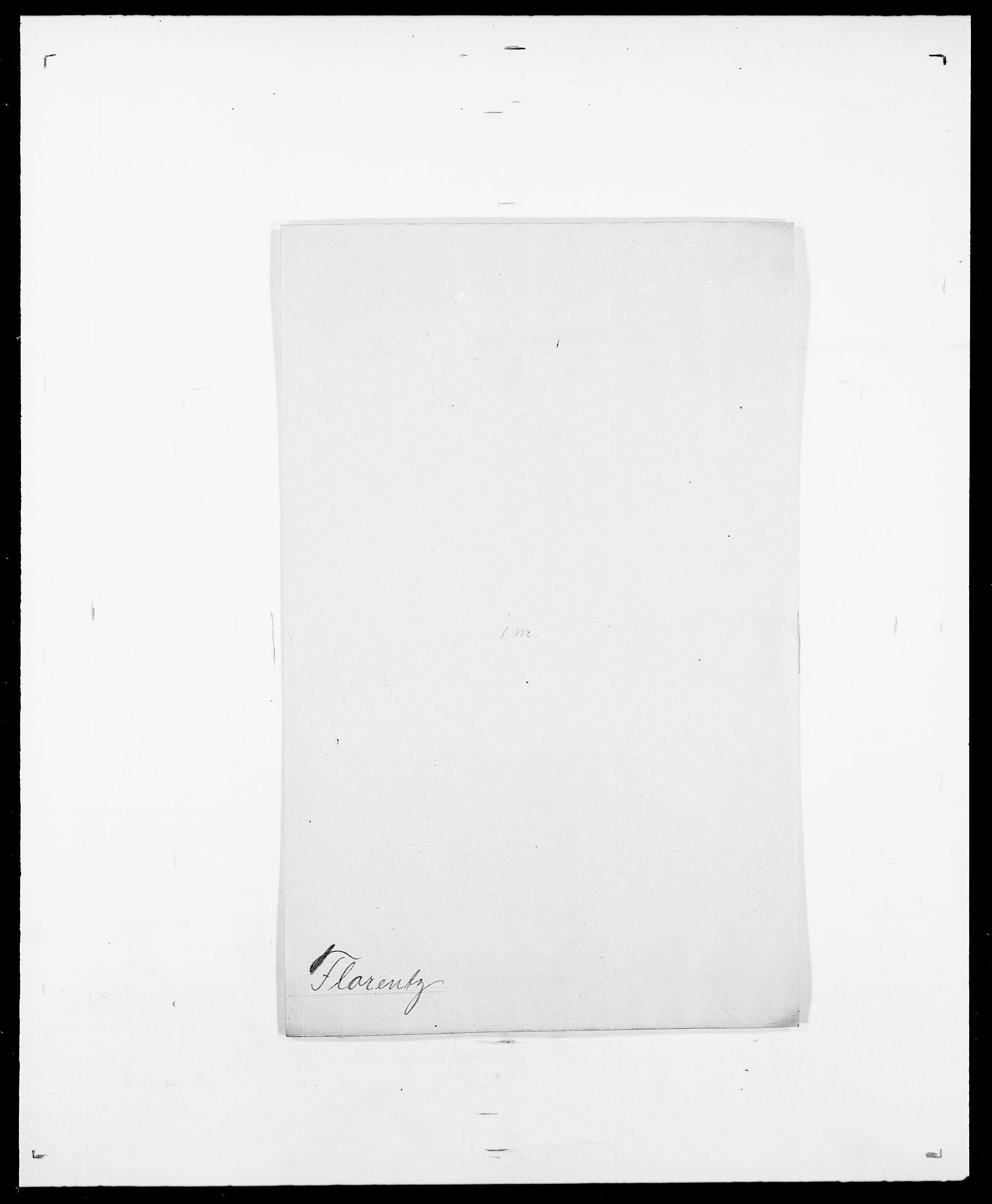 SAO, Delgobe, Charles Antoine - samling, D/Da/L0012: Flor, Floer, Flohr - Fritzner, s. 468