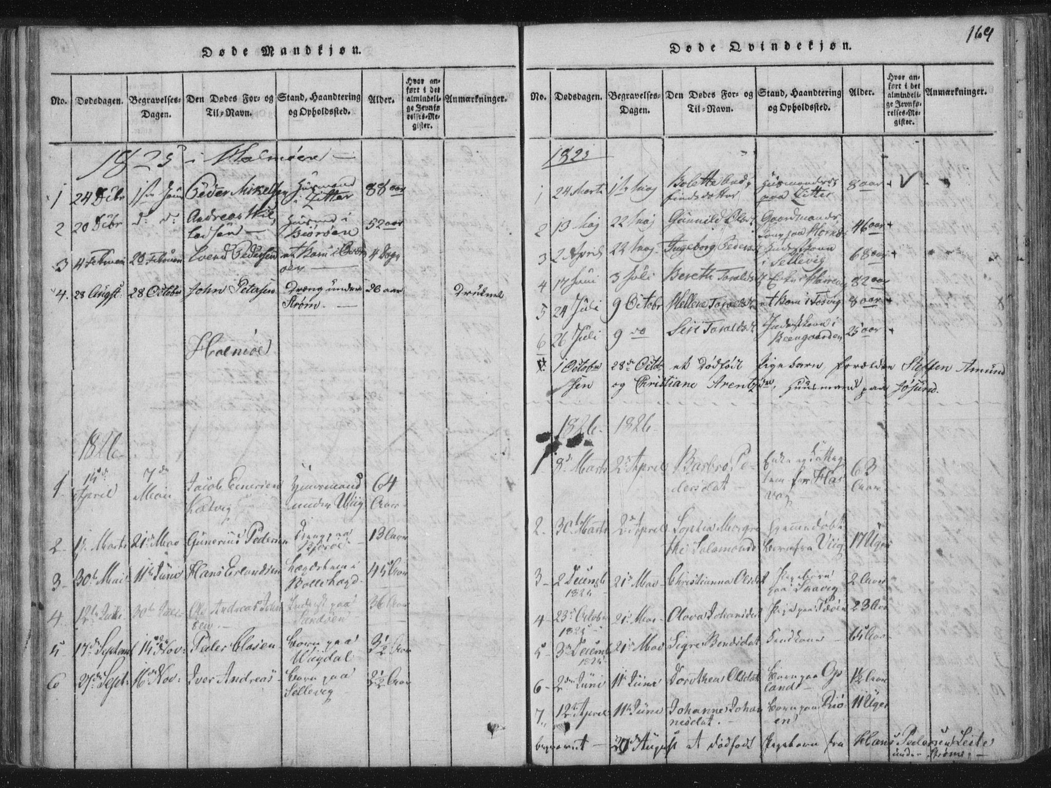 SAT, Ministerialprotokoller, klokkerbøker og fødselsregistre - Nord-Trøndelag, 773/L0609: Ministerialbok nr. 773A03 /3, 1815-1830, s. 169