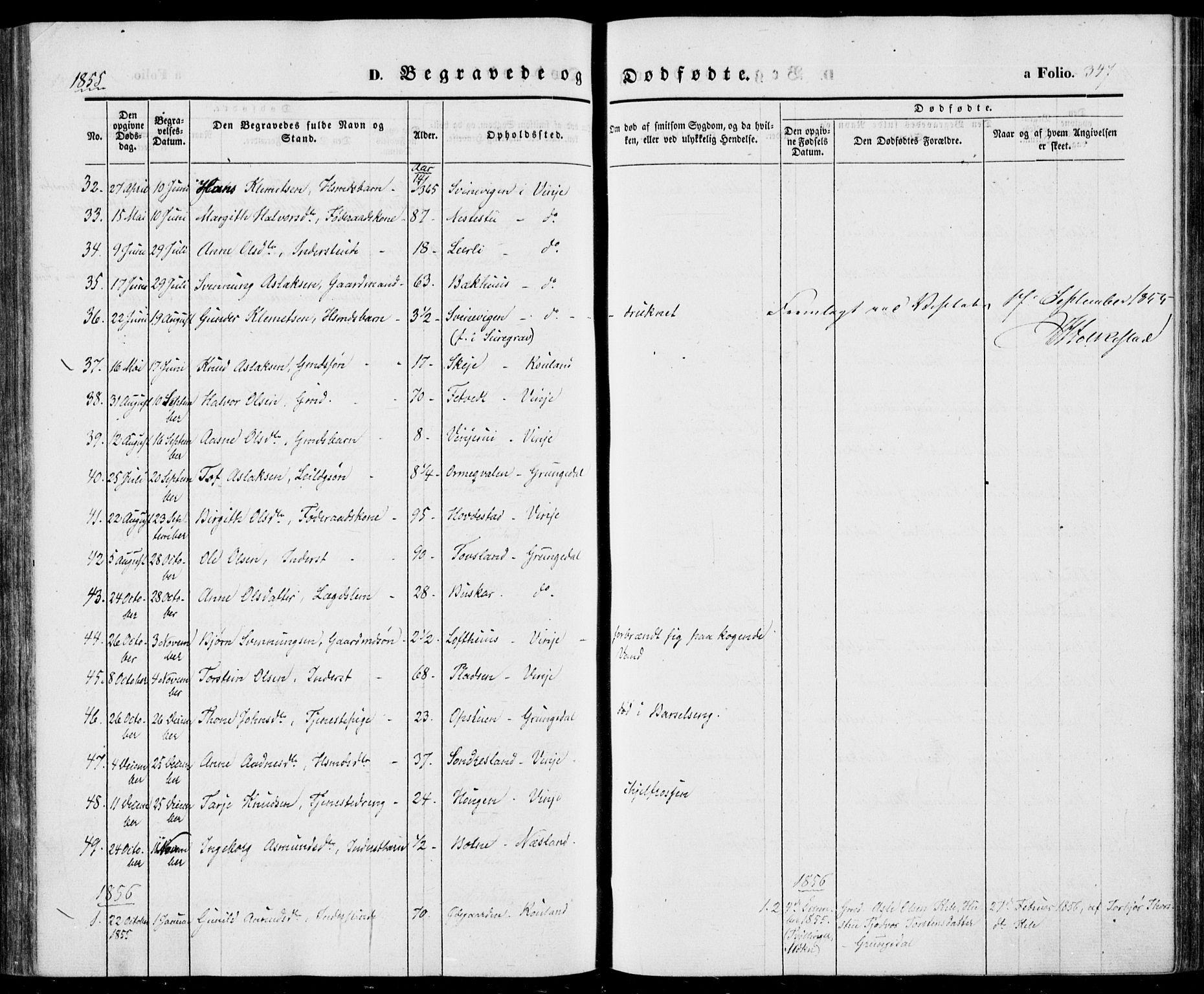 SAKO, Vinje kirkebøker, F/Fa/L0004: Ministerialbok nr. I 4, 1843-1869, s. 347