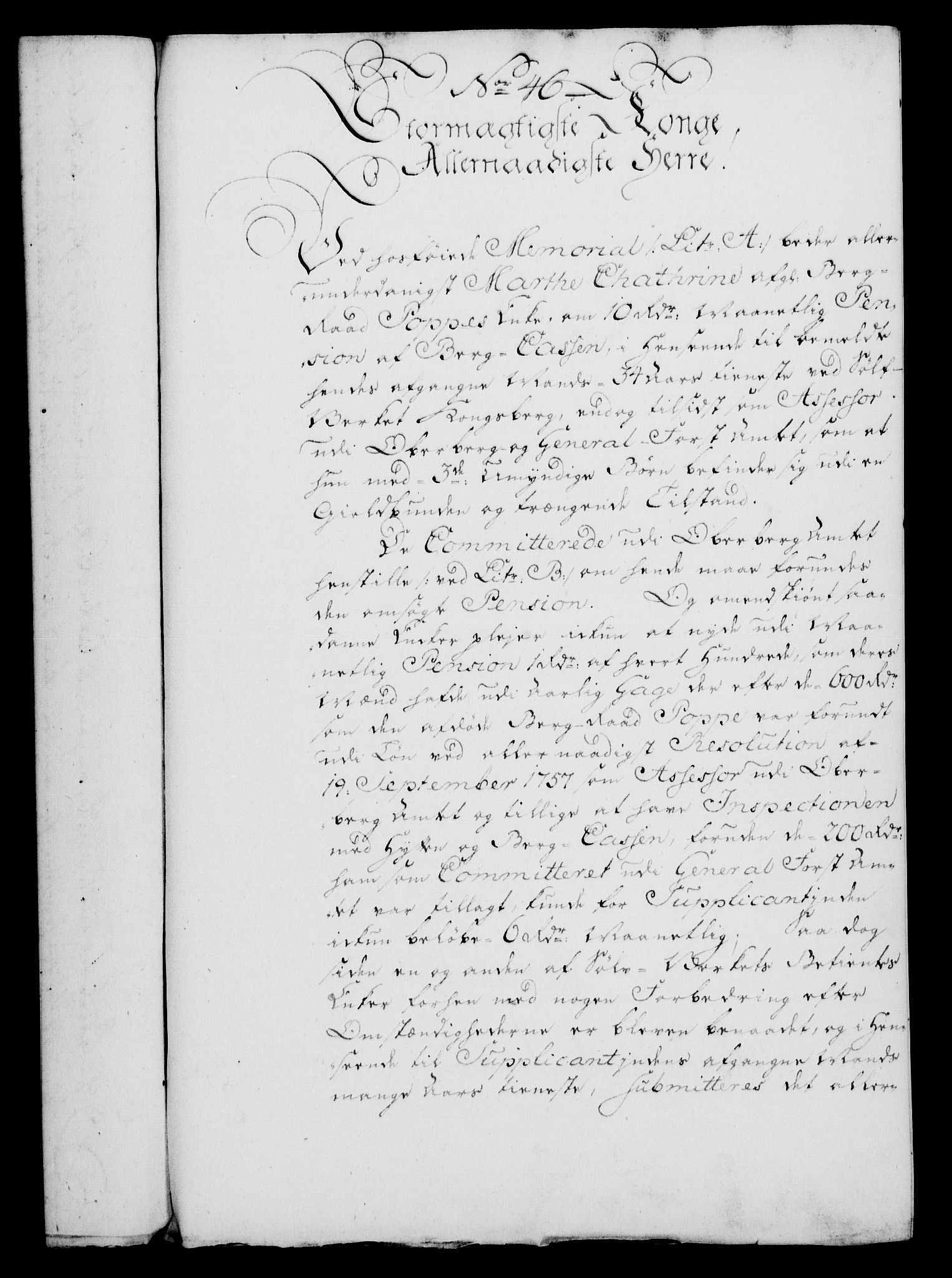 RA, Rentekammeret, Kammerkanselliet, G/Gf/Gfa/L0046: Norsk relasjons- og resolusjonsprotokoll (merket RK 52.46), 1764, s. 215