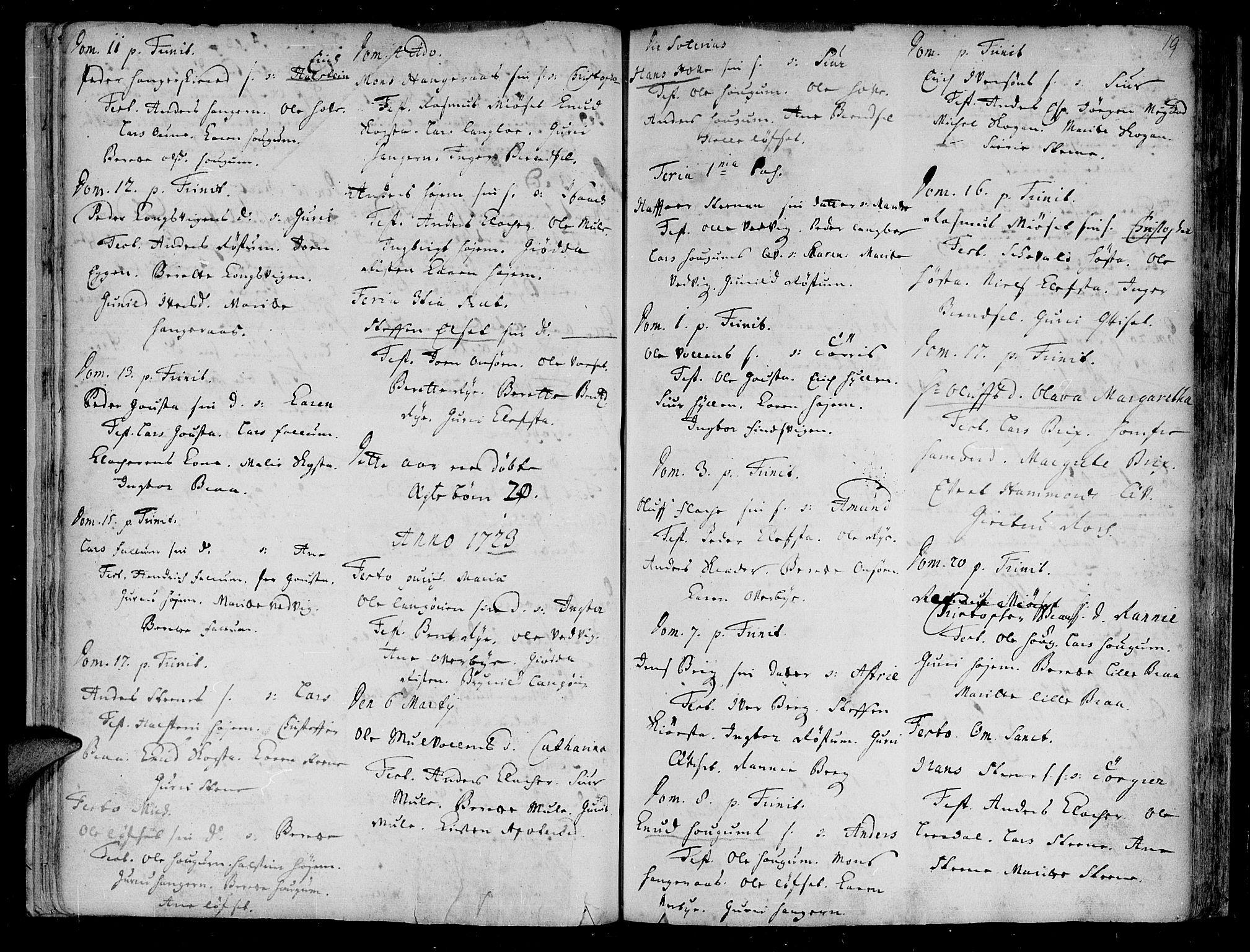 SAT, Ministerialprotokoller, klokkerbøker og fødselsregistre - Sør-Trøndelag, 612/L0368: Ministerialbok nr. 612A02, 1702-1753, s. 19