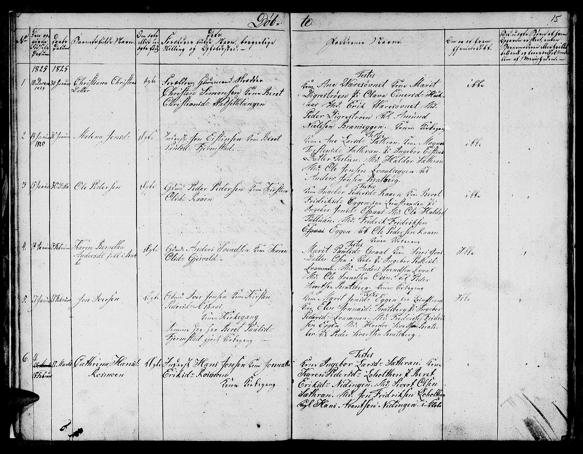 SAT, Ministerialprotokoller, klokkerbøker og fødselsregistre - Sør-Trøndelag, 608/L0337: Klokkerbok nr. 608C03, 1821-1831, s. 15