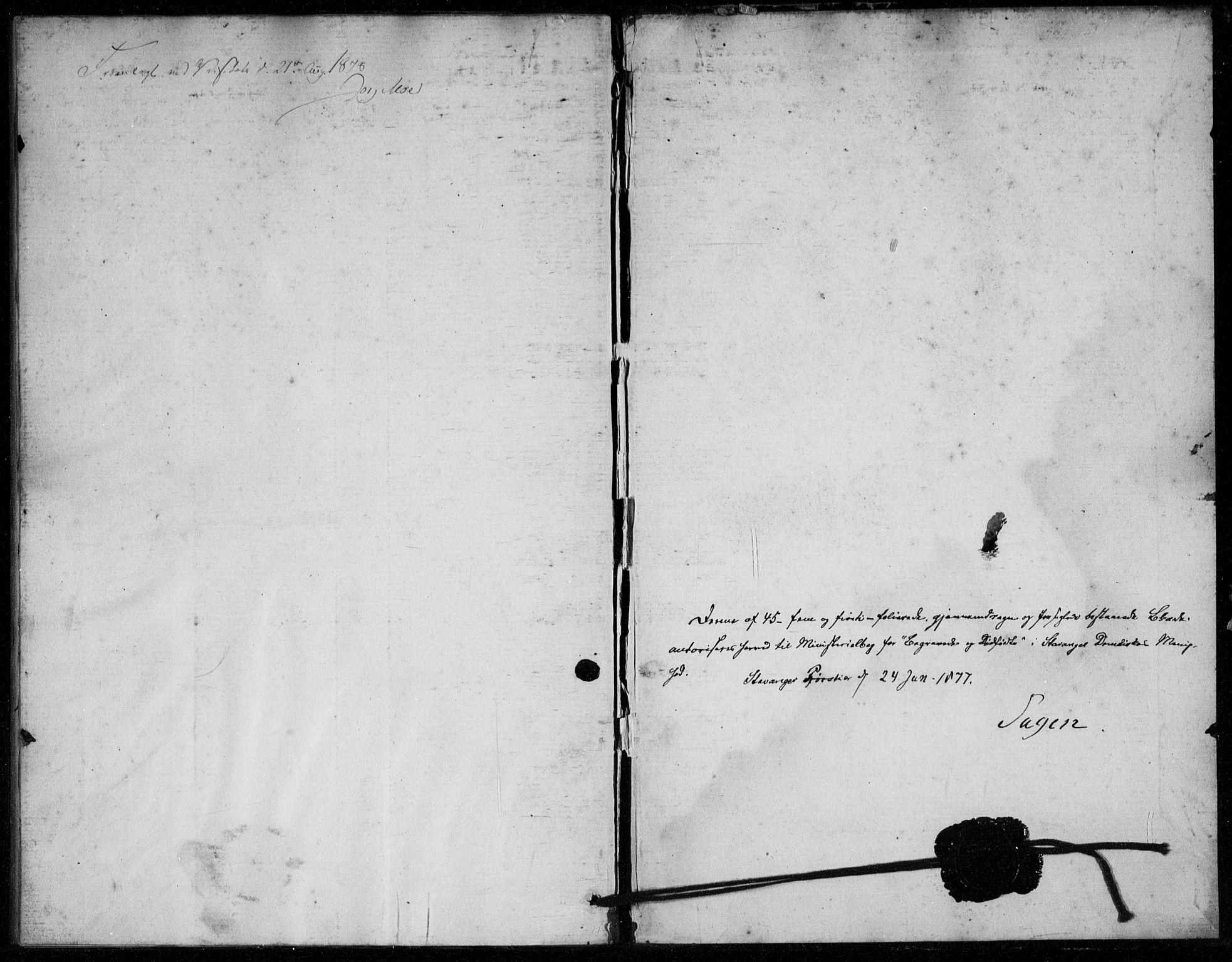 SAST, Domkirken sokneprestkontor, 30/30BA/L0024: Ministerialbok nr. A 23, 1877-1877