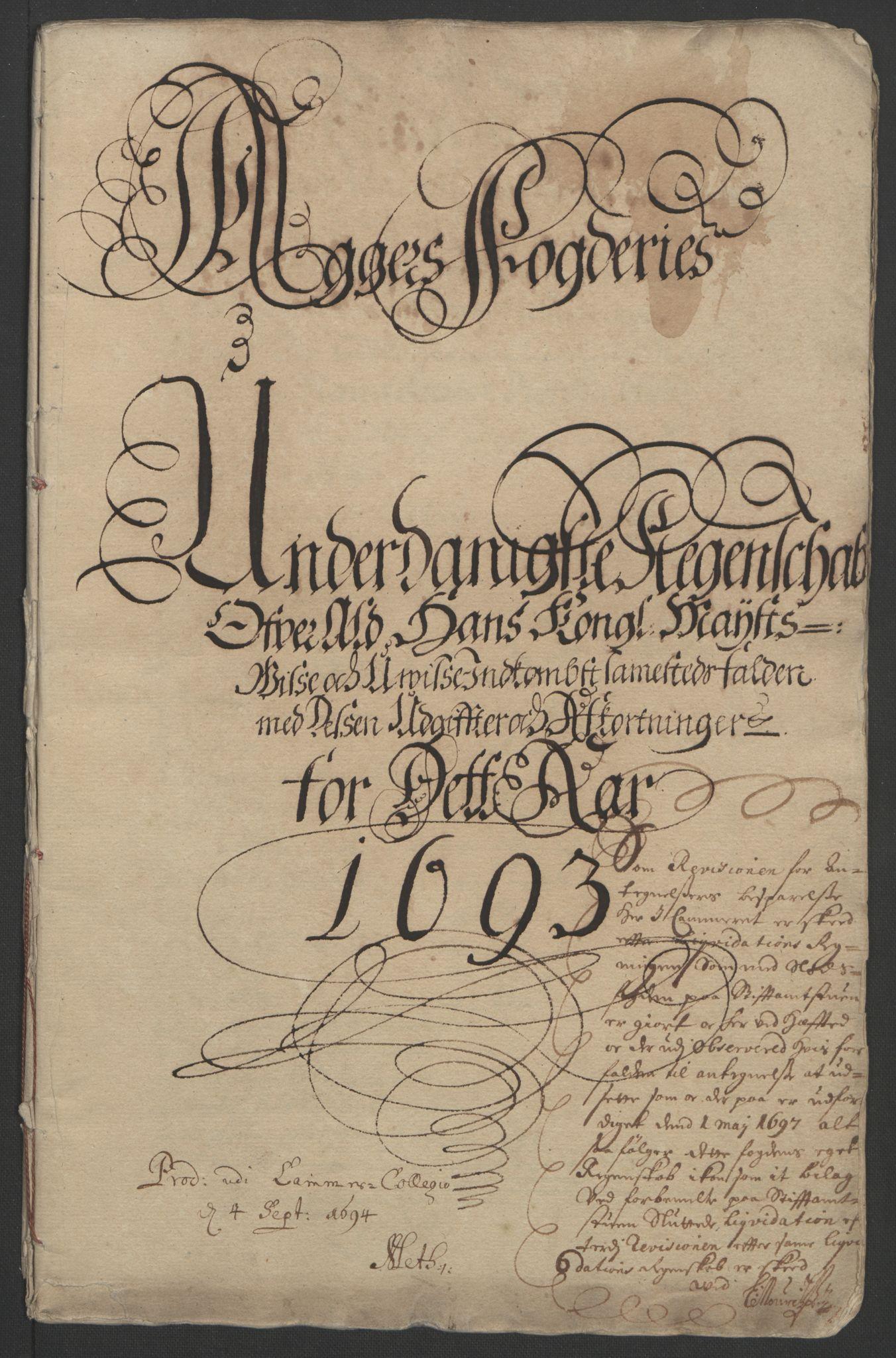 RA, Rentekammeret inntil 1814, Reviderte regnskaper, Fogderegnskap, R08/L0426: Fogderegnskap Aker, 1692-1693, s. 264