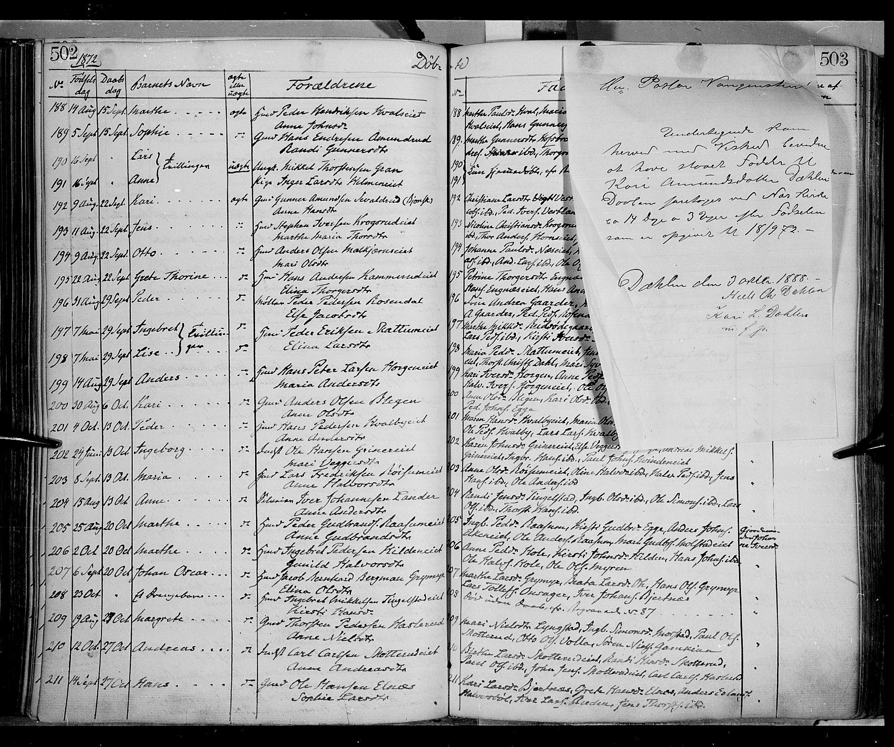 SAH, Gran prestekontor, Ministerialbok nr. 12, 1856-1874, s. 502-503