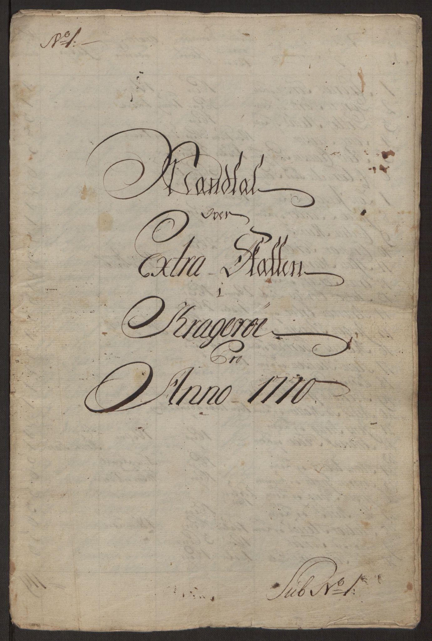 RA, Rentekammeret inntil 1814, Reviderte regnskaper, Byregnskaper, R/Rk/L0218: [K2] Kontribusjonsregnskap, 1768-1772, s. 48