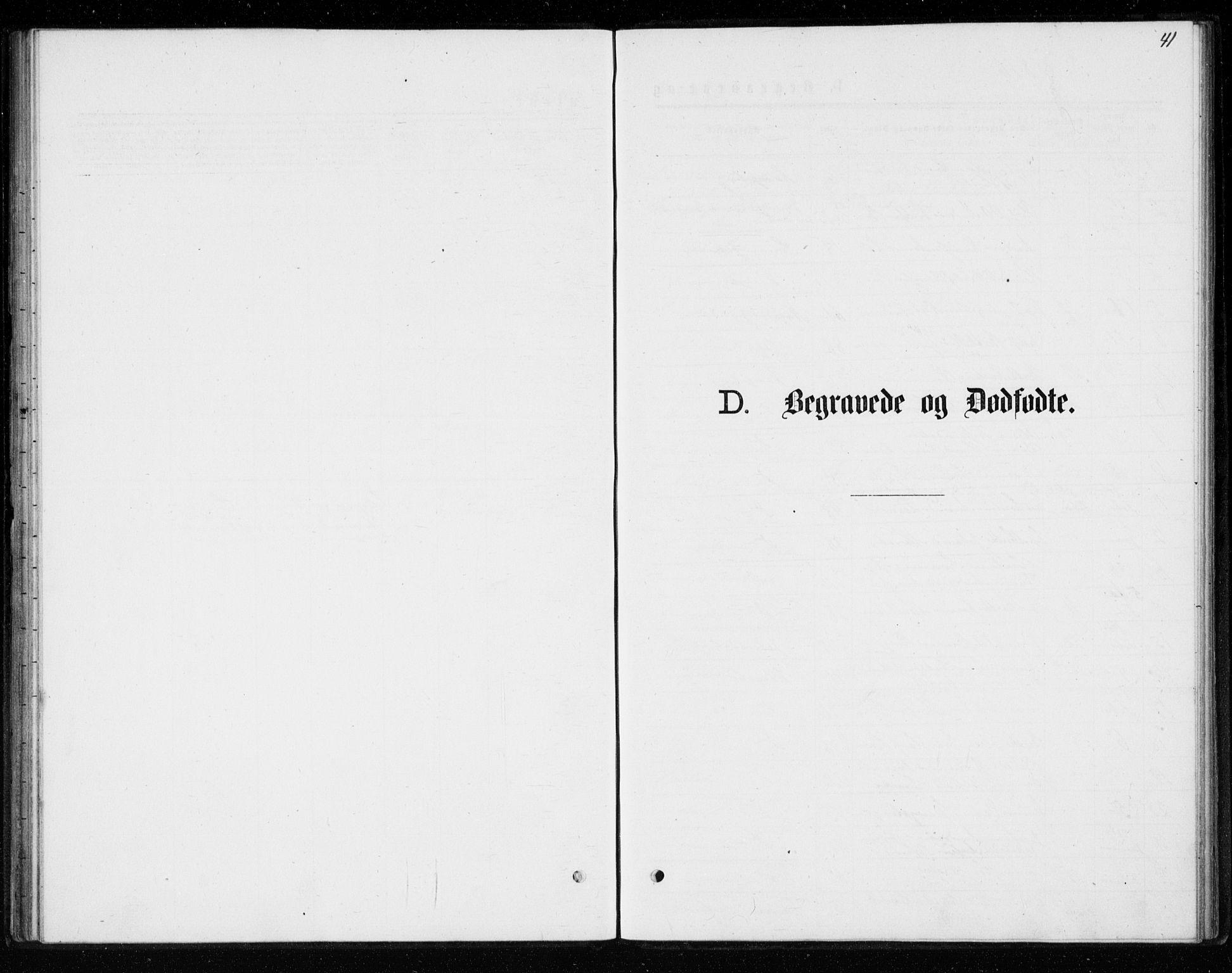 SAKO, Kongsberg kirkebøker, G/Ga/L0004: Klokkerbok nr. 4, 1876-1877, s. 41