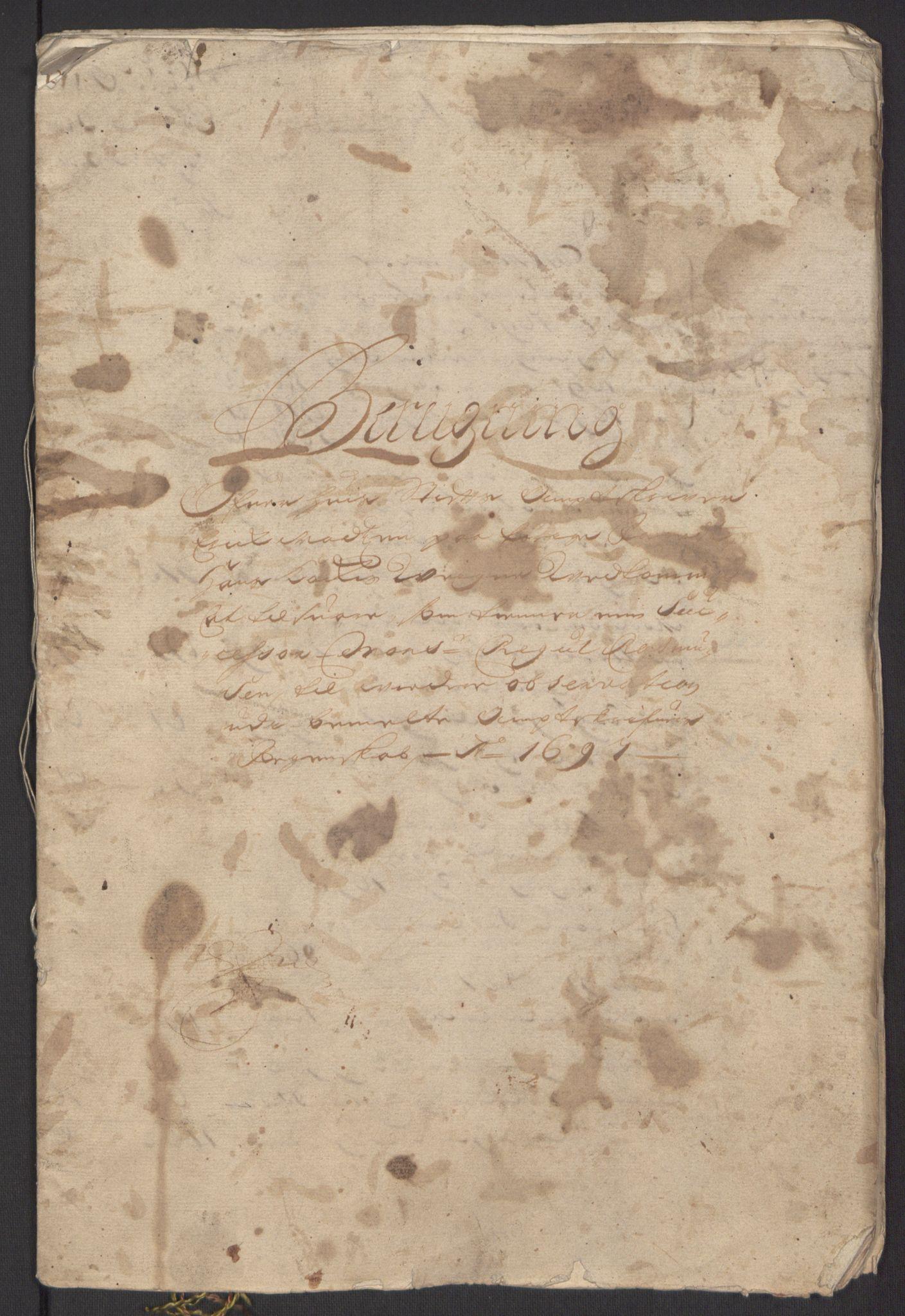 RA, Rentekammeret inntil 1814, Reviderte regnskaper, Fogderegnskap, R62/L4185: Fogderegnskap Stjørdal og Verdal, 1692, s. 346