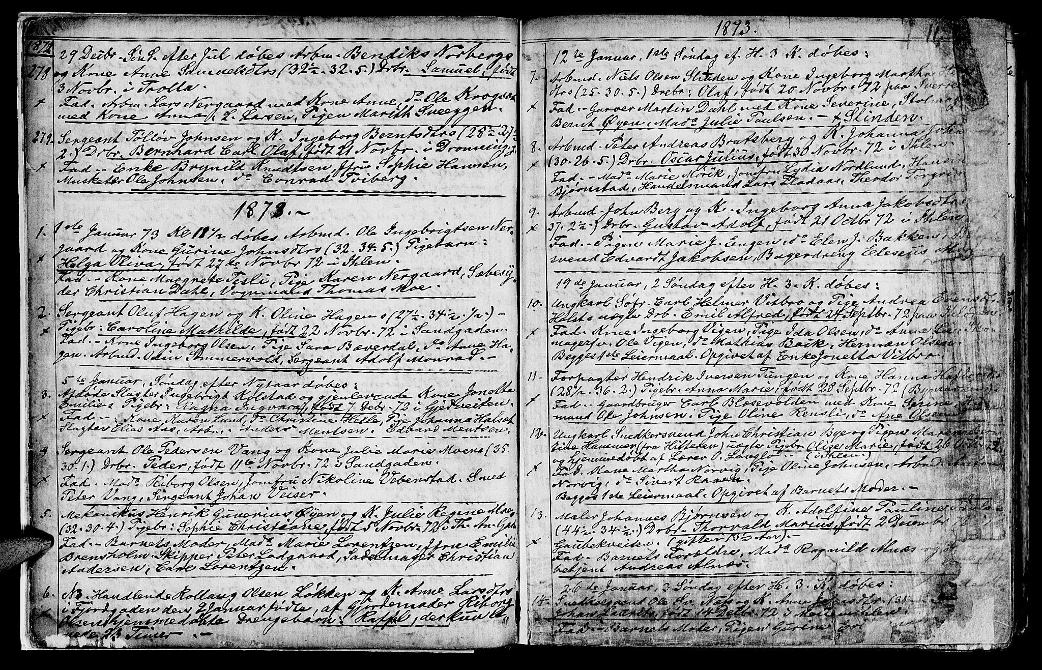 SAT, Ministerialprotokoller, klokkerbøker og fødselsregistre - Sør-Trøndelag, 602/L0142: Klokkerbok nr. 602C10, 1872-1894, s. 11